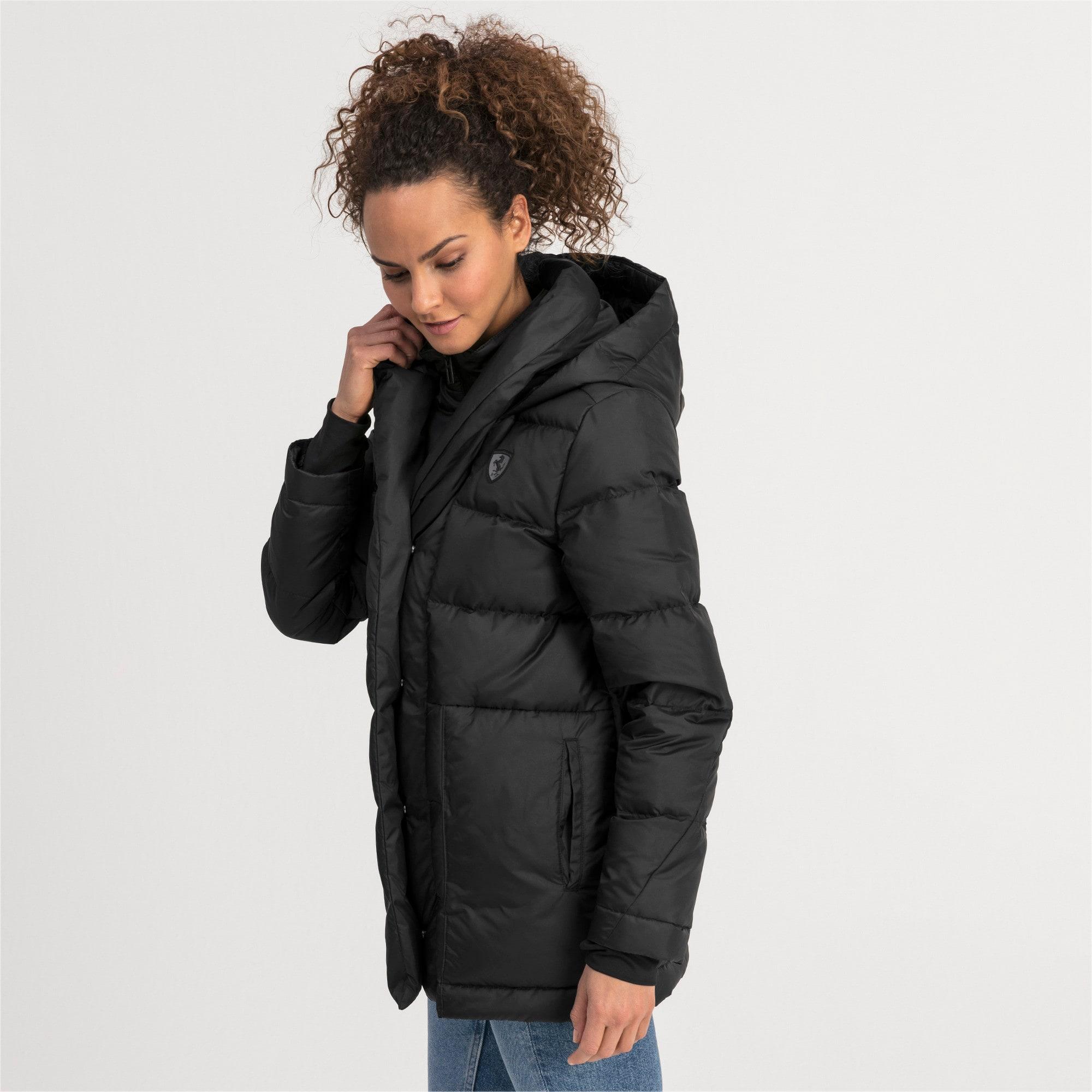 Thumbnail 1 of Ferrari Down Women's Jacket, Puma Black, medium