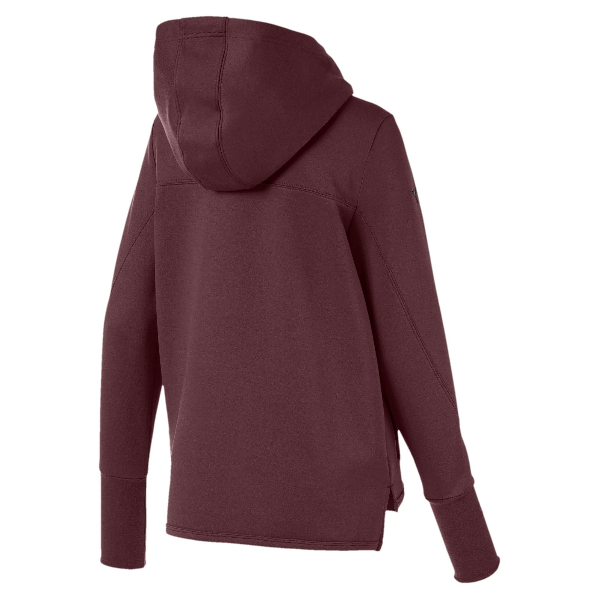 Thumbnail 2 of Scuderia Ferrari Women's Hooded Sweat Jacket, Vineyard Wine, medium