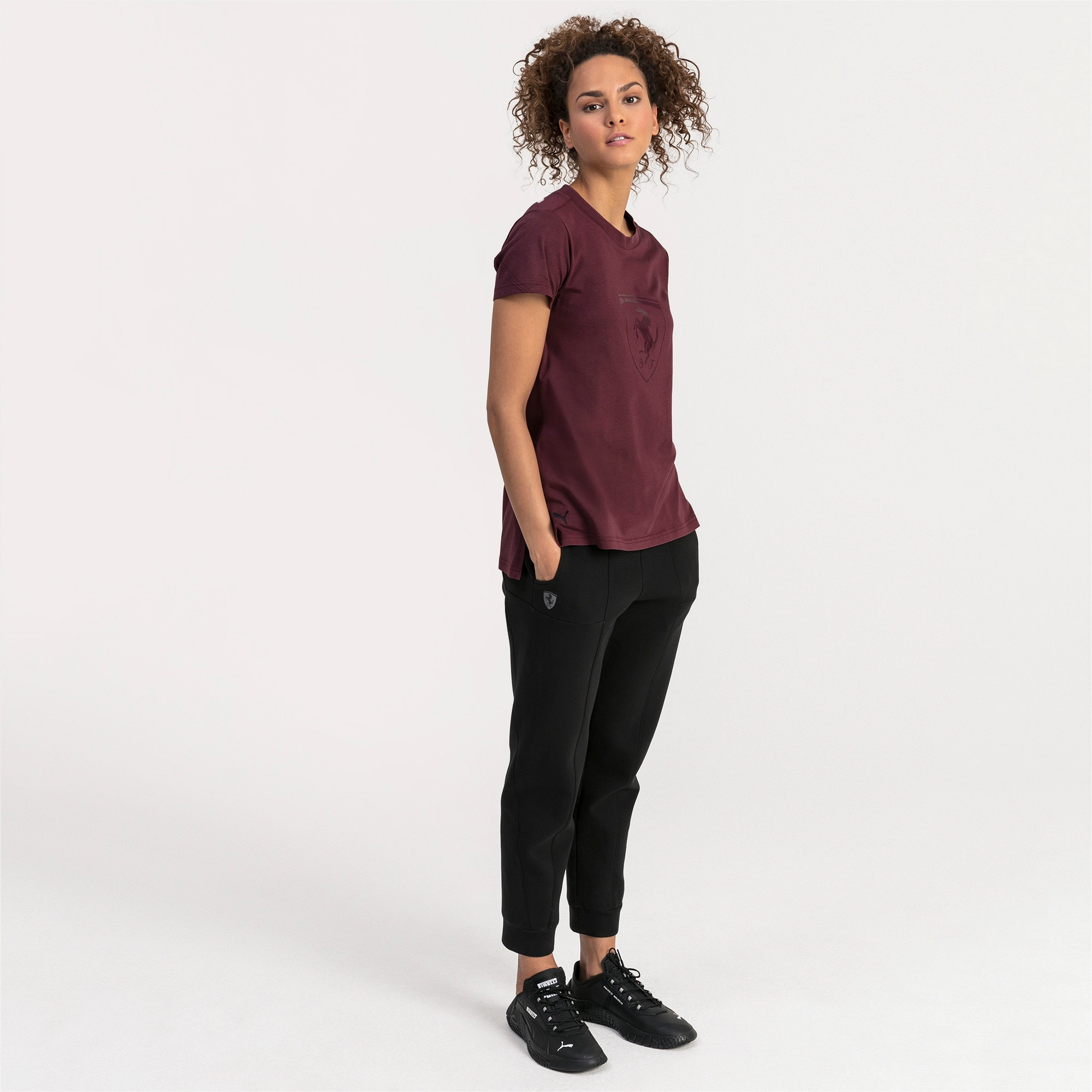 Thumbnail 3 of Pantaloni della tuta Ferrari donna, Puma Black, medium