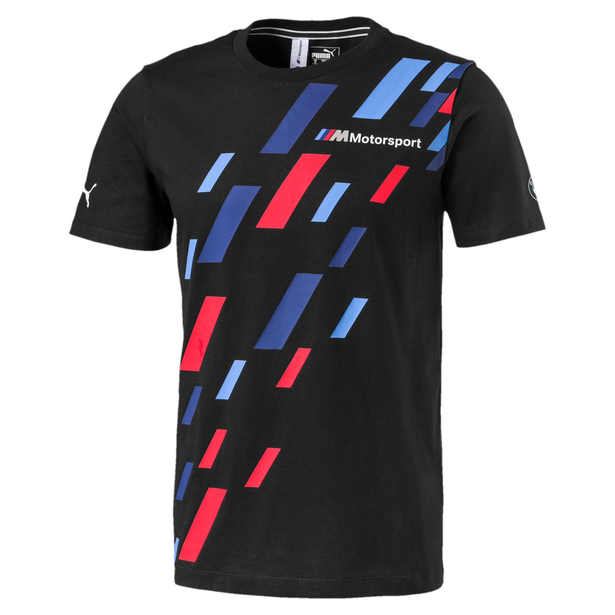 Miniaturka 1 Męska koszulka z logo BMW M Motorsport z grafiką, Puma Black, średnie