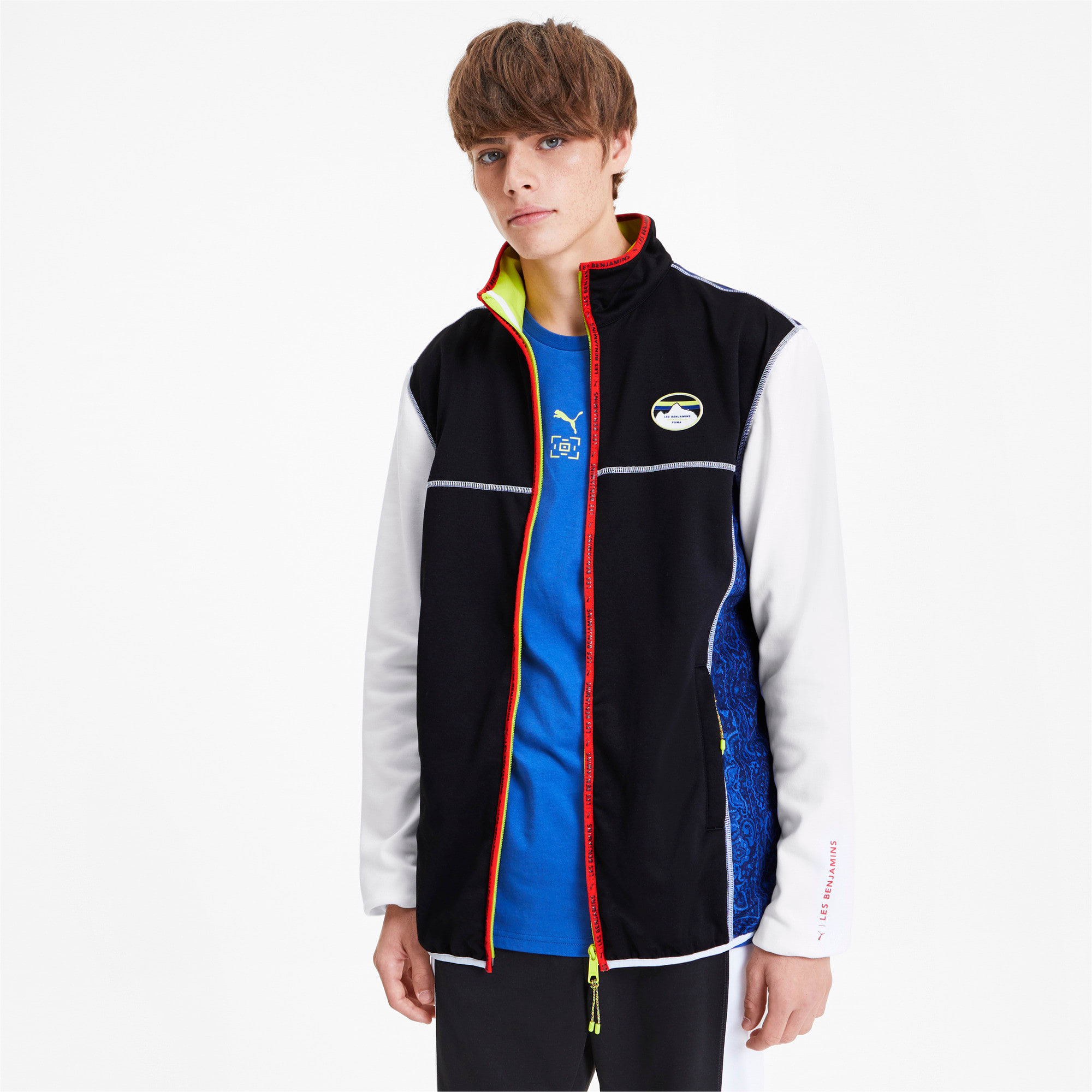 Thumbnail 1 of PUMA x LES BENJAMINS Men's Track Top, Puma White, medium