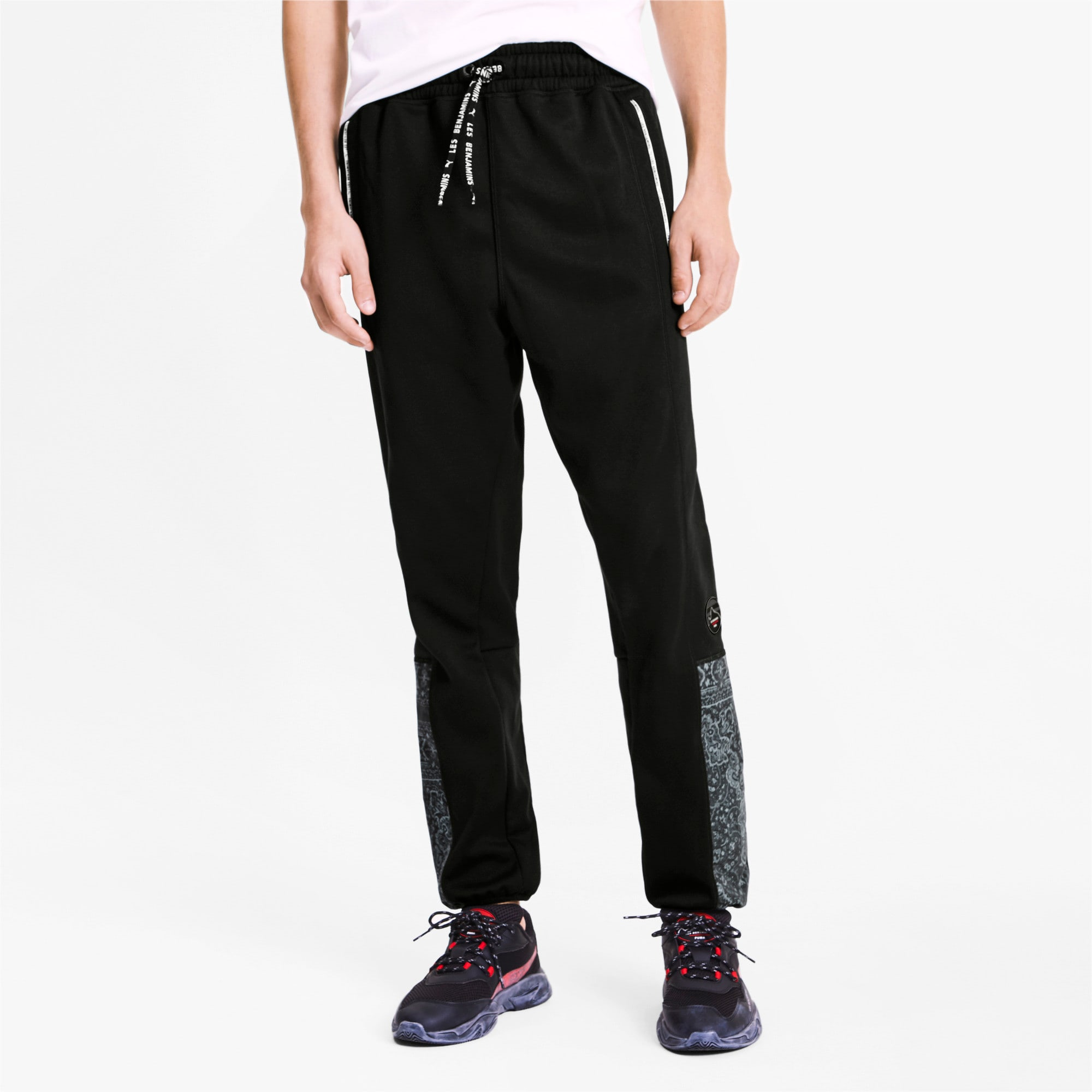 Thumbnail 2 of PUMA x LES BENJAMINS Woven Men's Track Pants, Puma Black, medium
