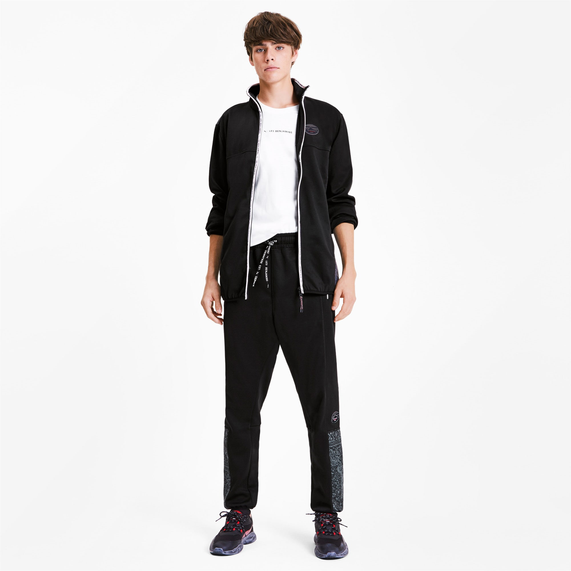 Thumbnail 4 of PUMA x LES BENJAMINS Woven Men's Track Pants, Puma Black, medium