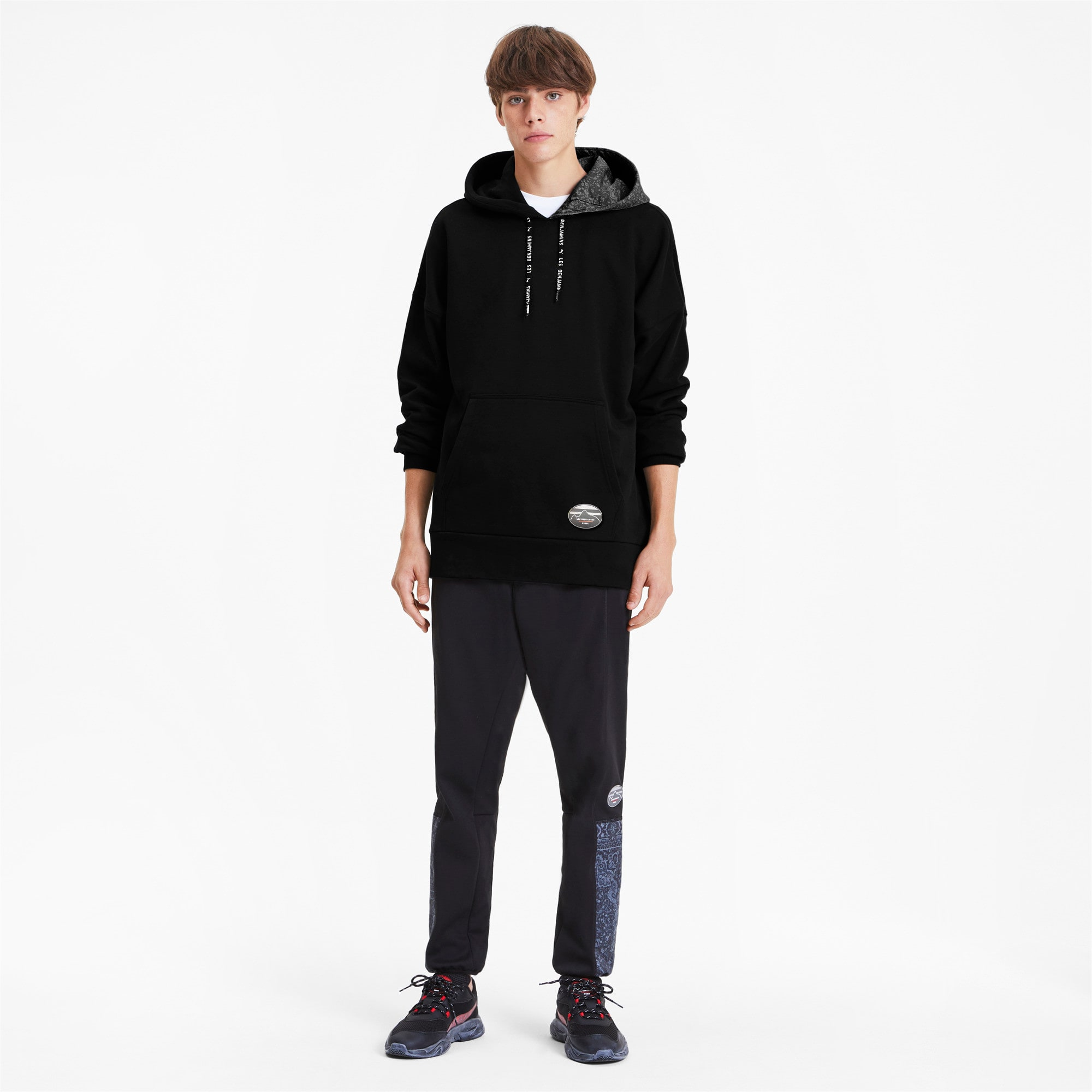 Thumbnail 4 of PUMA x LES BENJAMINS Men's Hoodie, Puma Black, medium