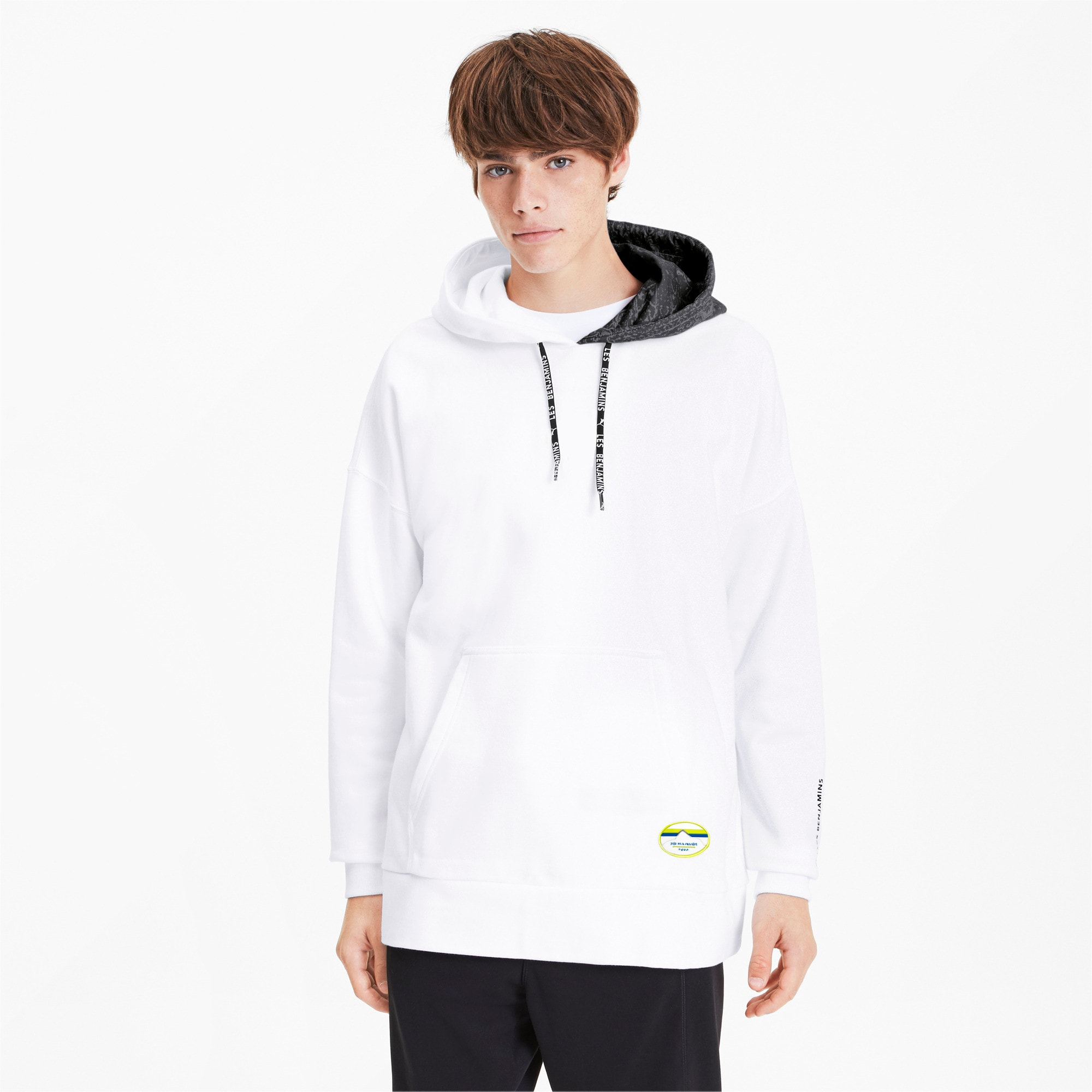 Thumbnail 2 of PUMA x LES BENJAMINS Men's Hoodie, Puma White, medium