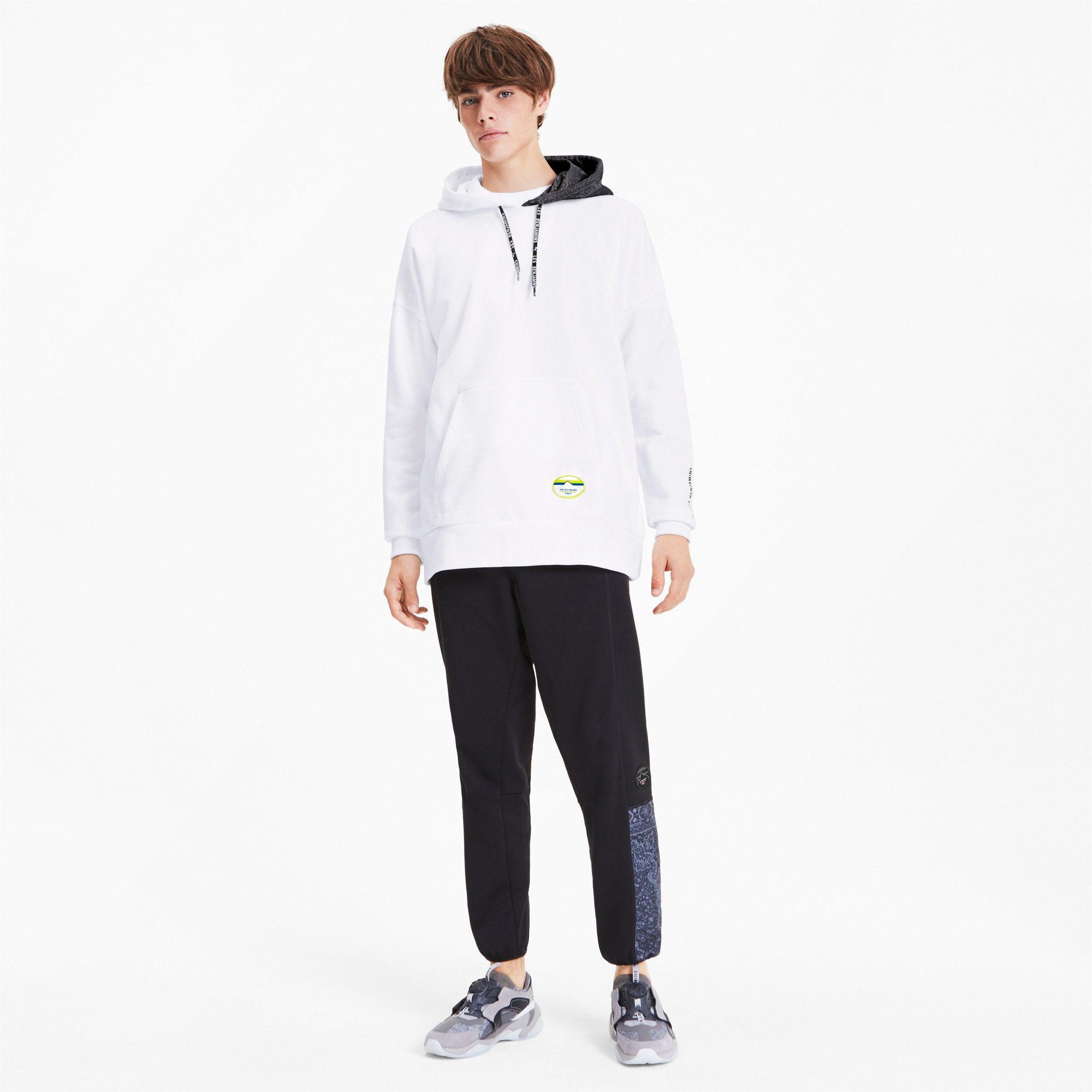 Thumbnail 4 of PUMA x LES BENJAMINS Men's Hoodie, Puma White, medium