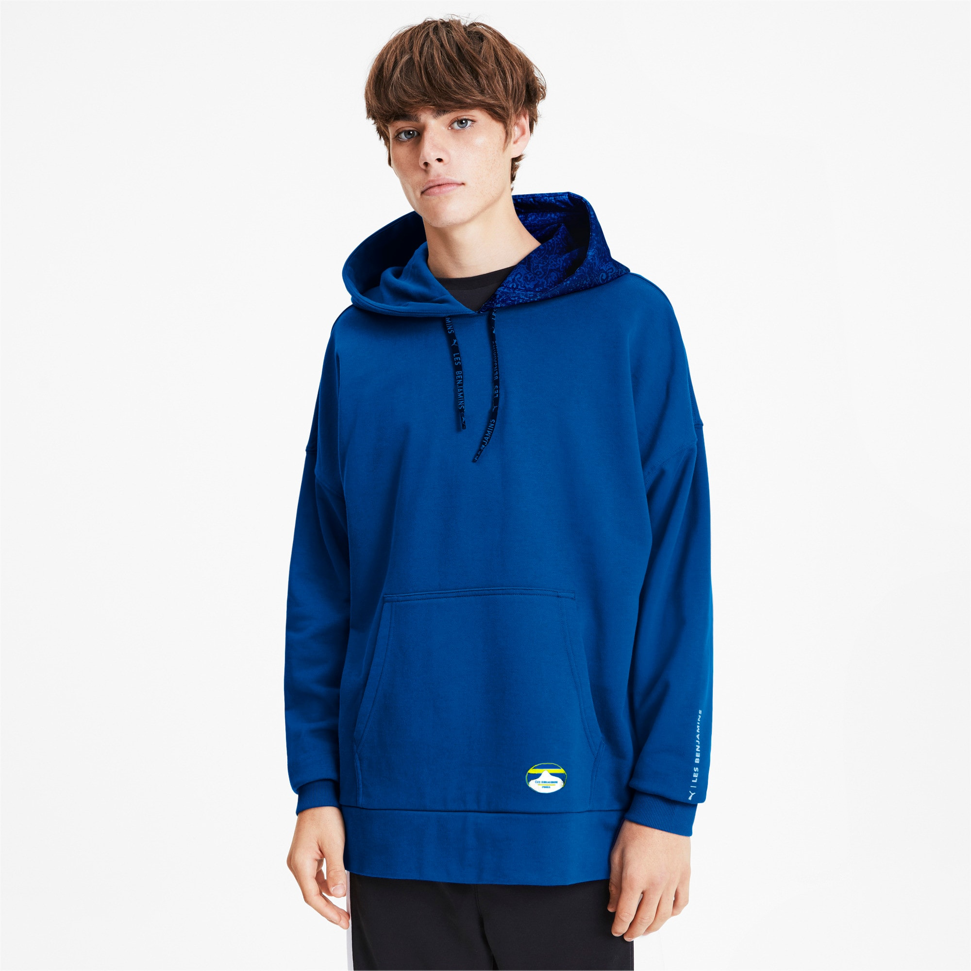 Thumbnail 2 of PUMA x LES BENJAMINS Men's Hoodie, Galaxy Blue, medium