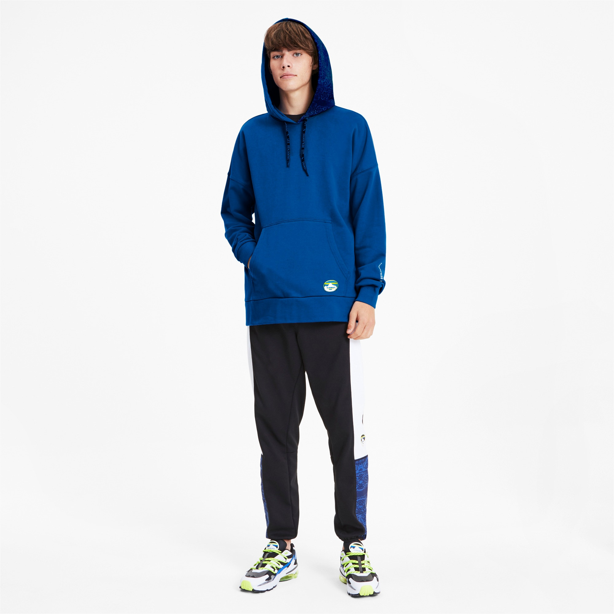 Thumbnail 4 of PUMA x LES BENJAMINS Men's Hoodie, Galaxy Blue, medium