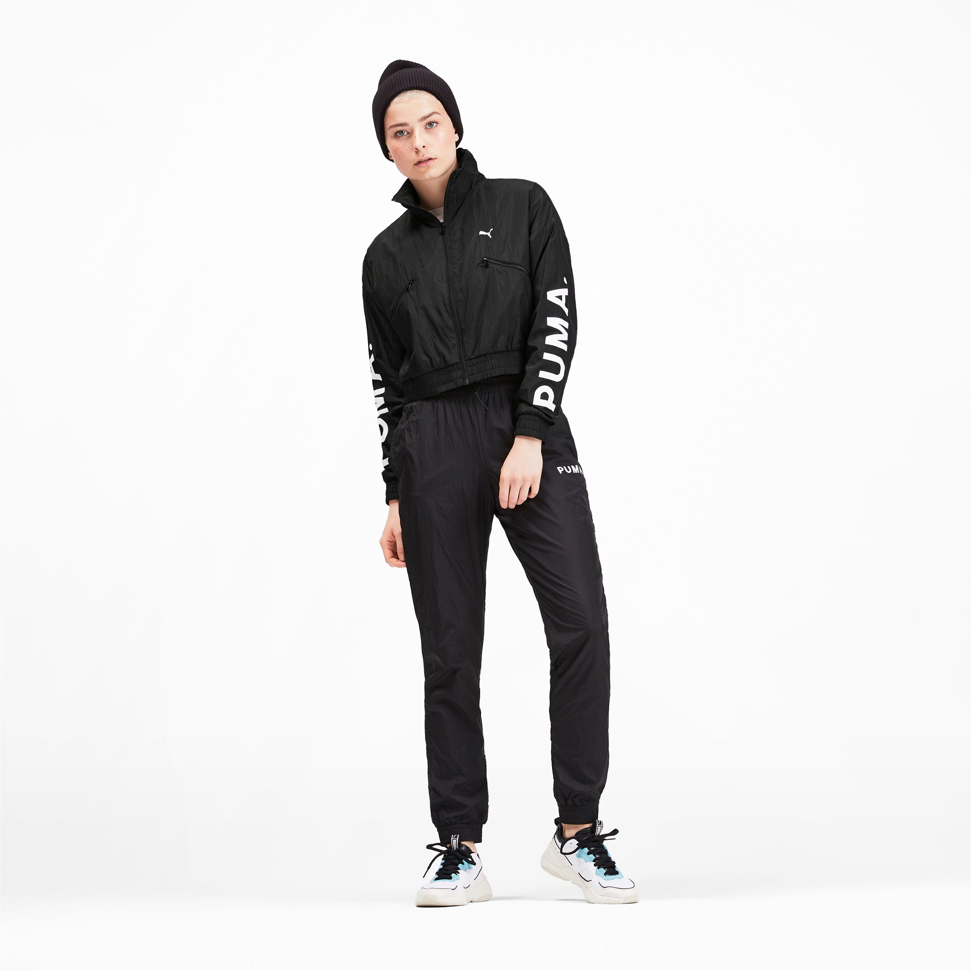 Thumbnail 4 of Chase Woven Women's Jacket, Puma Black, medium