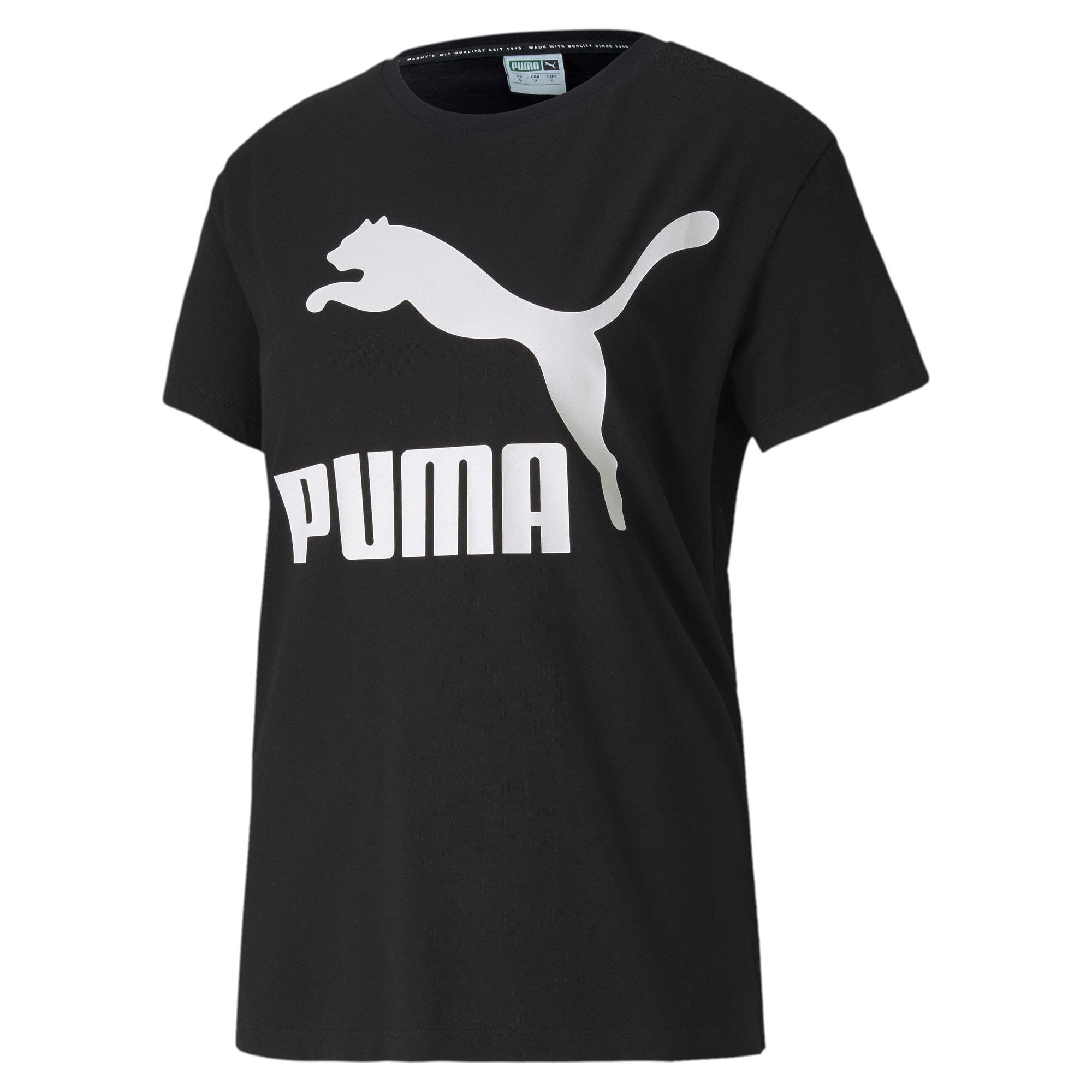 Thumbnail 4 of Classics Logo T-shirt voor dames, Puma Black - 1, medium