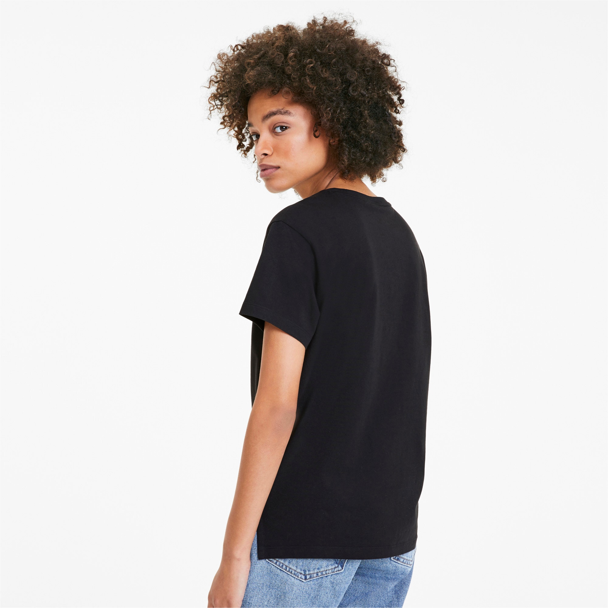 Thumbnail 2 of Classics Logo T-shirt voor dames, Puma Black - 1, medium
