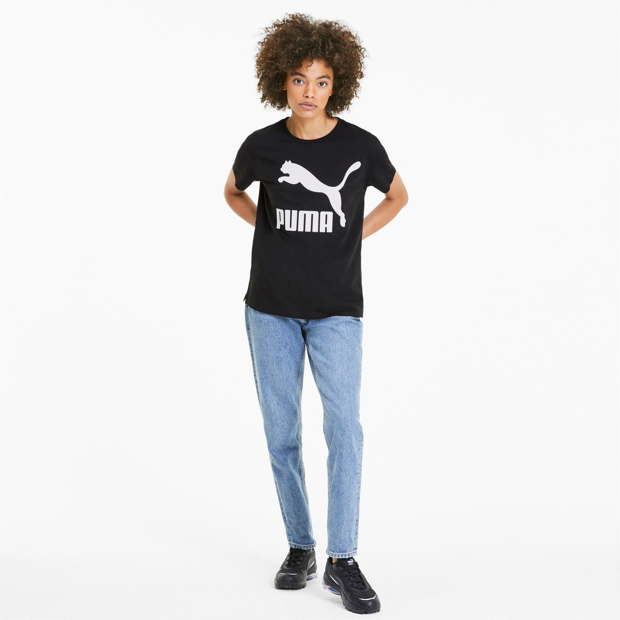 Thumbnail 3 of Classics Logo T-shirt voor dames, Puma Black - 1, medium