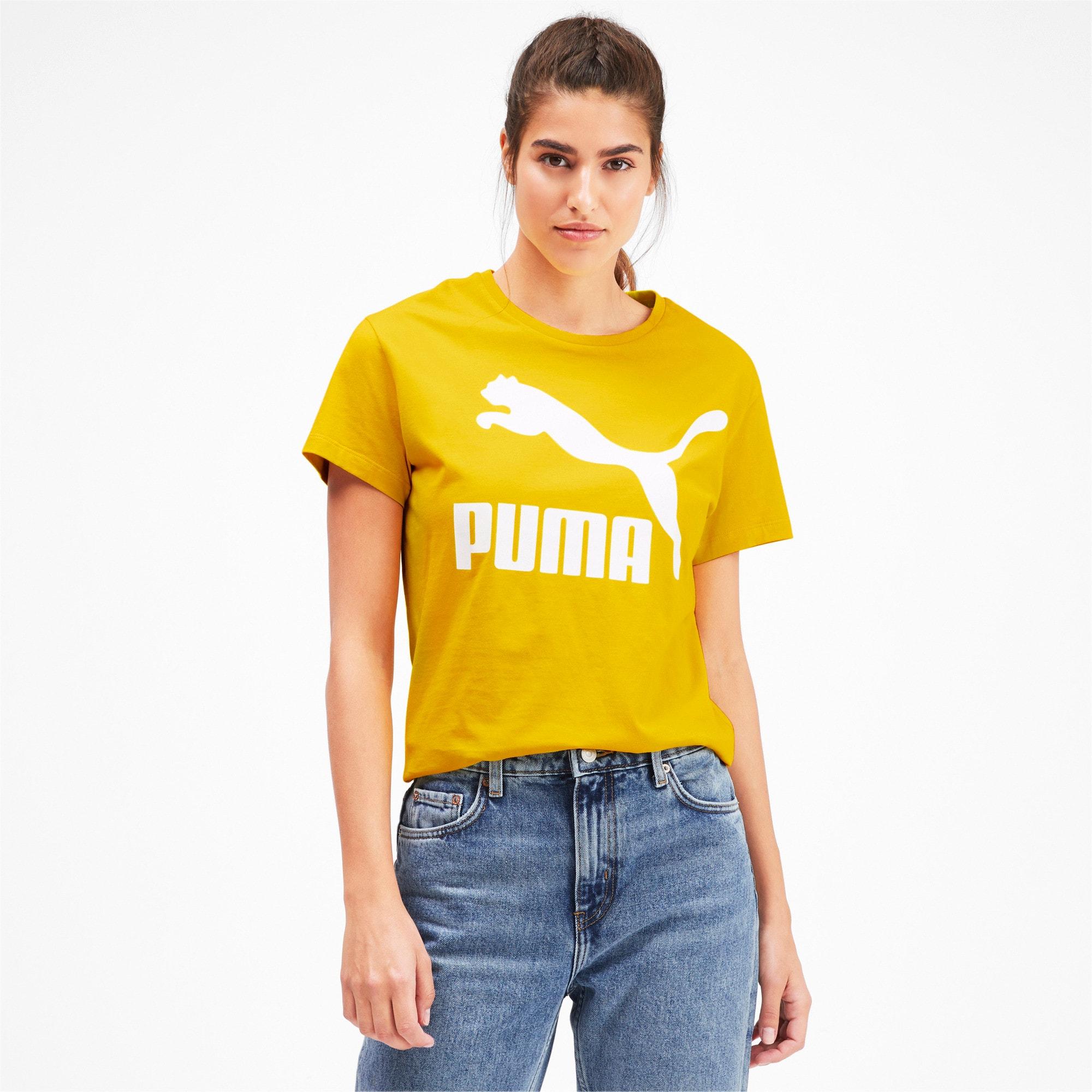 Thumbnail 1 van Classics Logo T-shirt voor vrouwen, Sulphur, medium