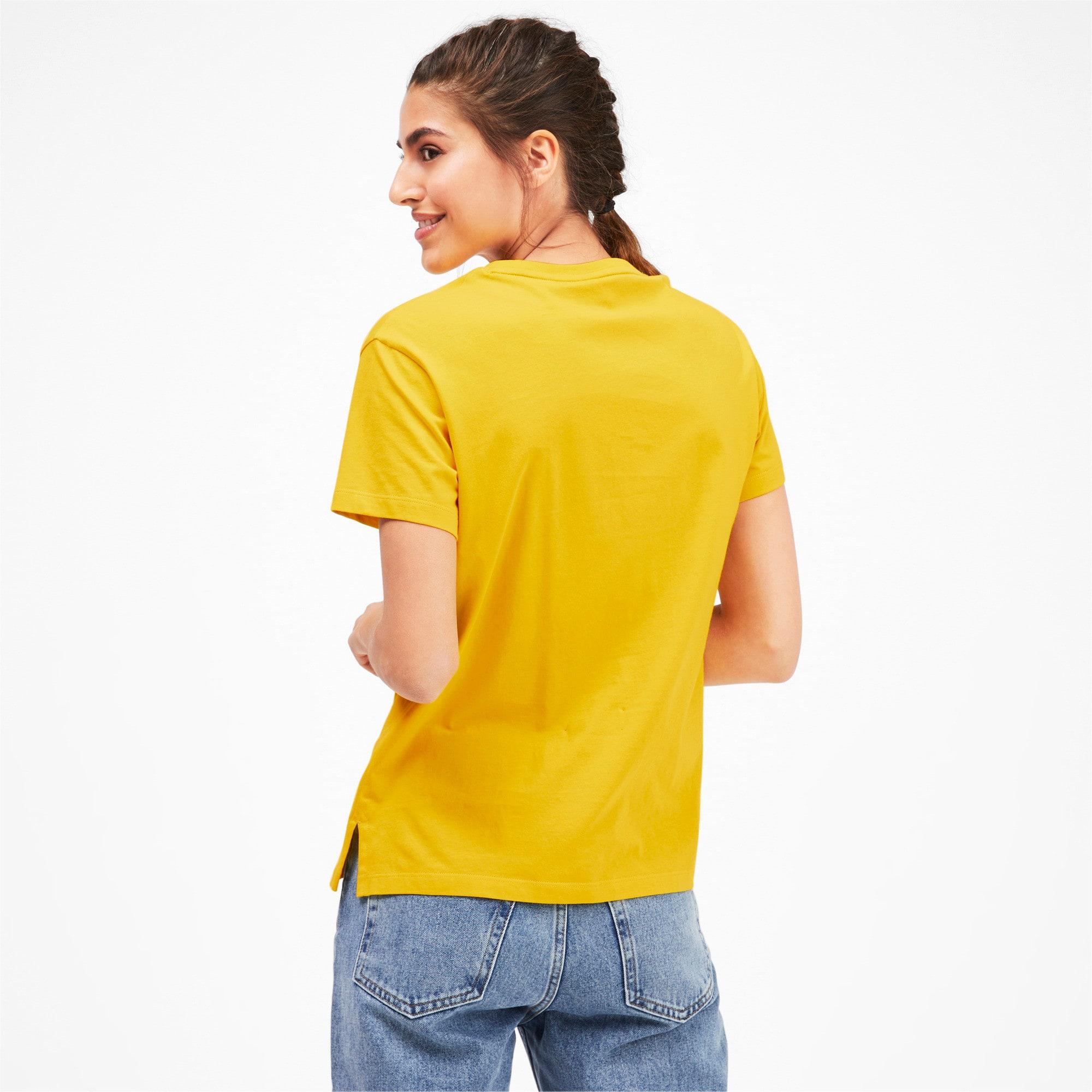 Thumbnail 2 van Classics Logo T-shirt voor vrouwen, Sulphur, medium