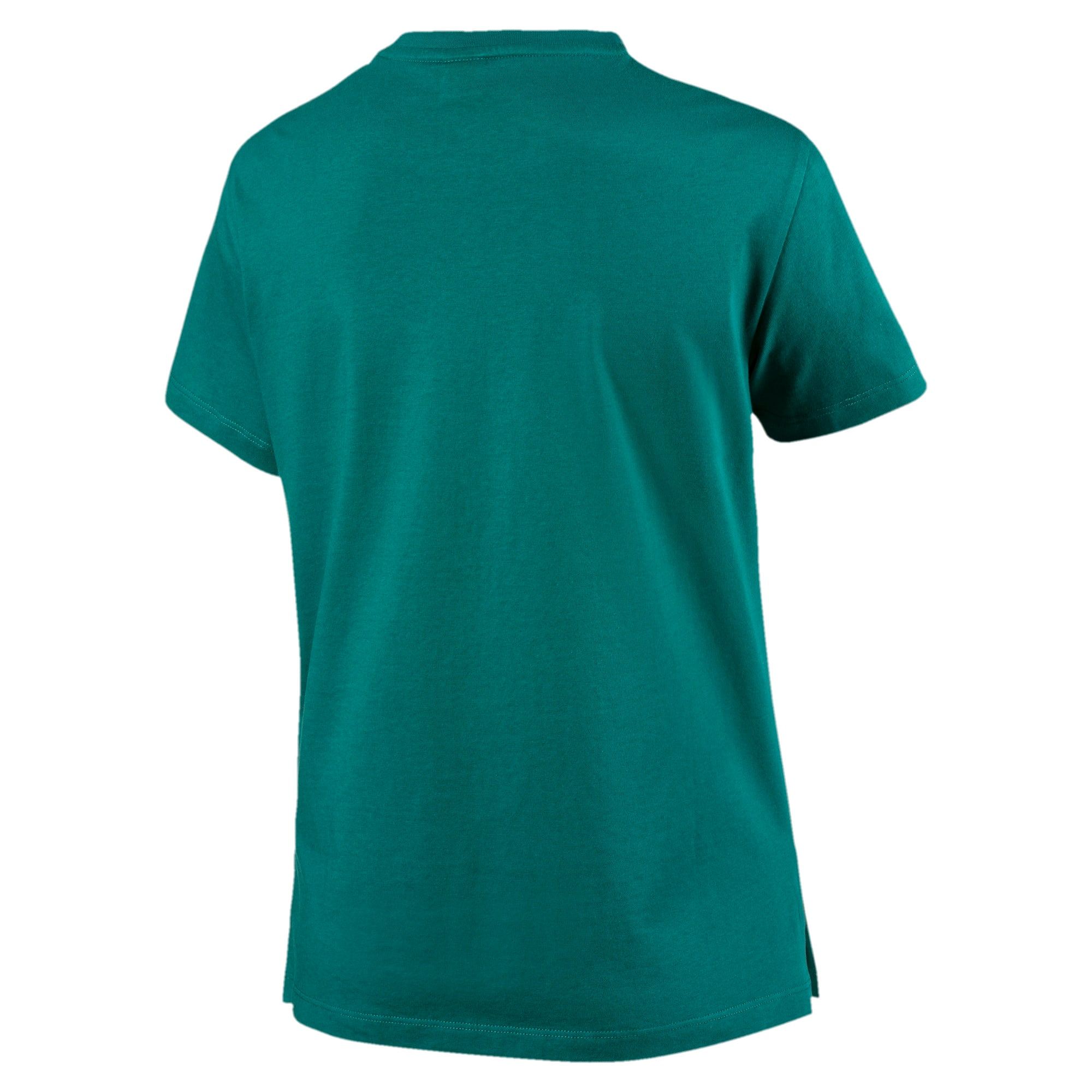 Miniatura 5 de Camiseta Classics con logotipo para mujer, Verde azulado, mediano