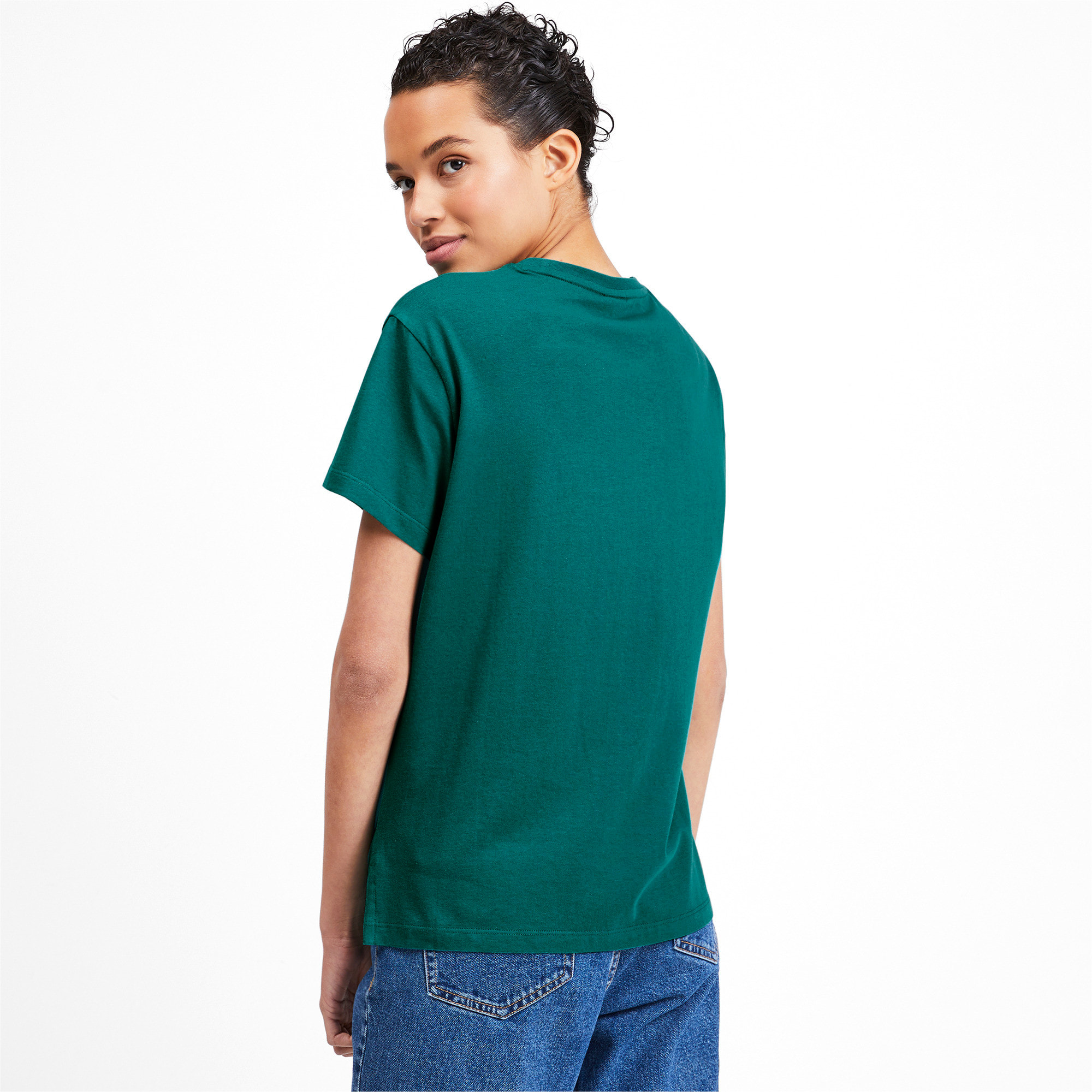 Miniatura 2 de Camiseta Classics con logotipo para mujer, Verde azulado, mediano