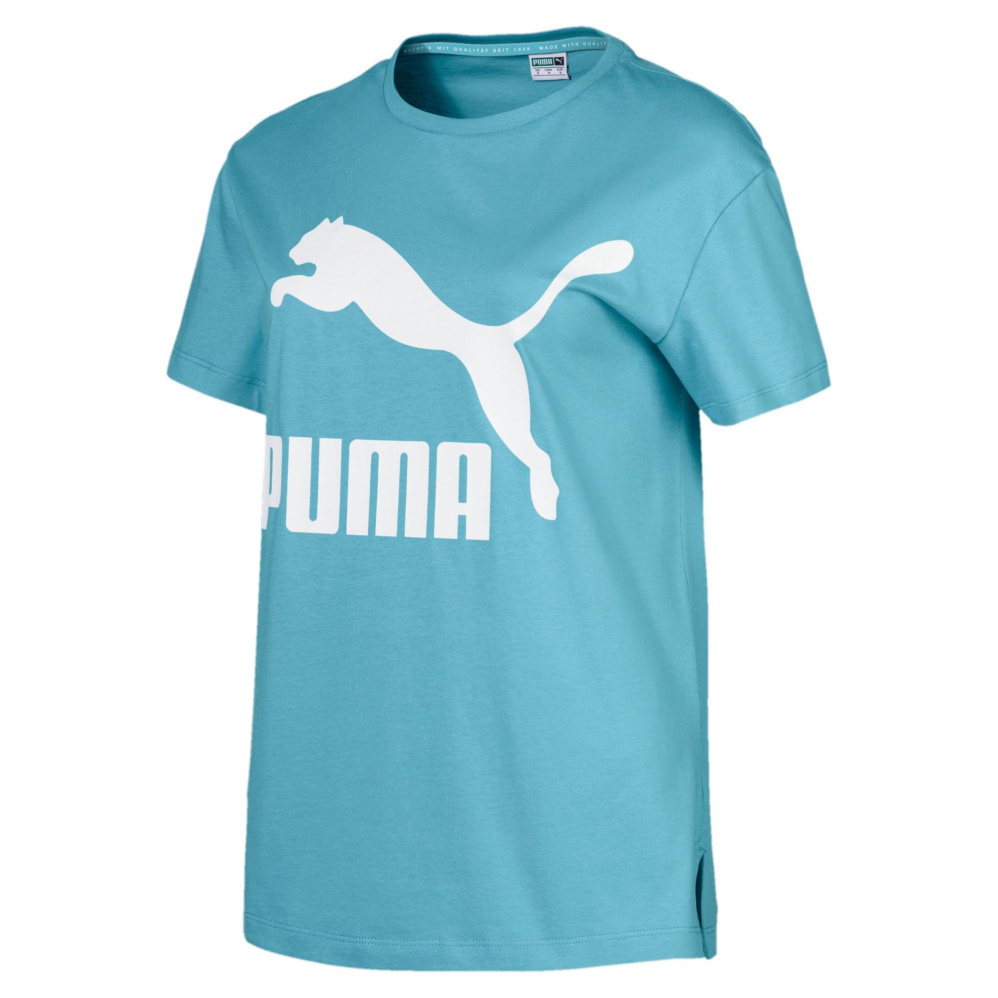 Thumbnail 4 of Classics Logo T-shirt voor dames, Milky Blue, medium