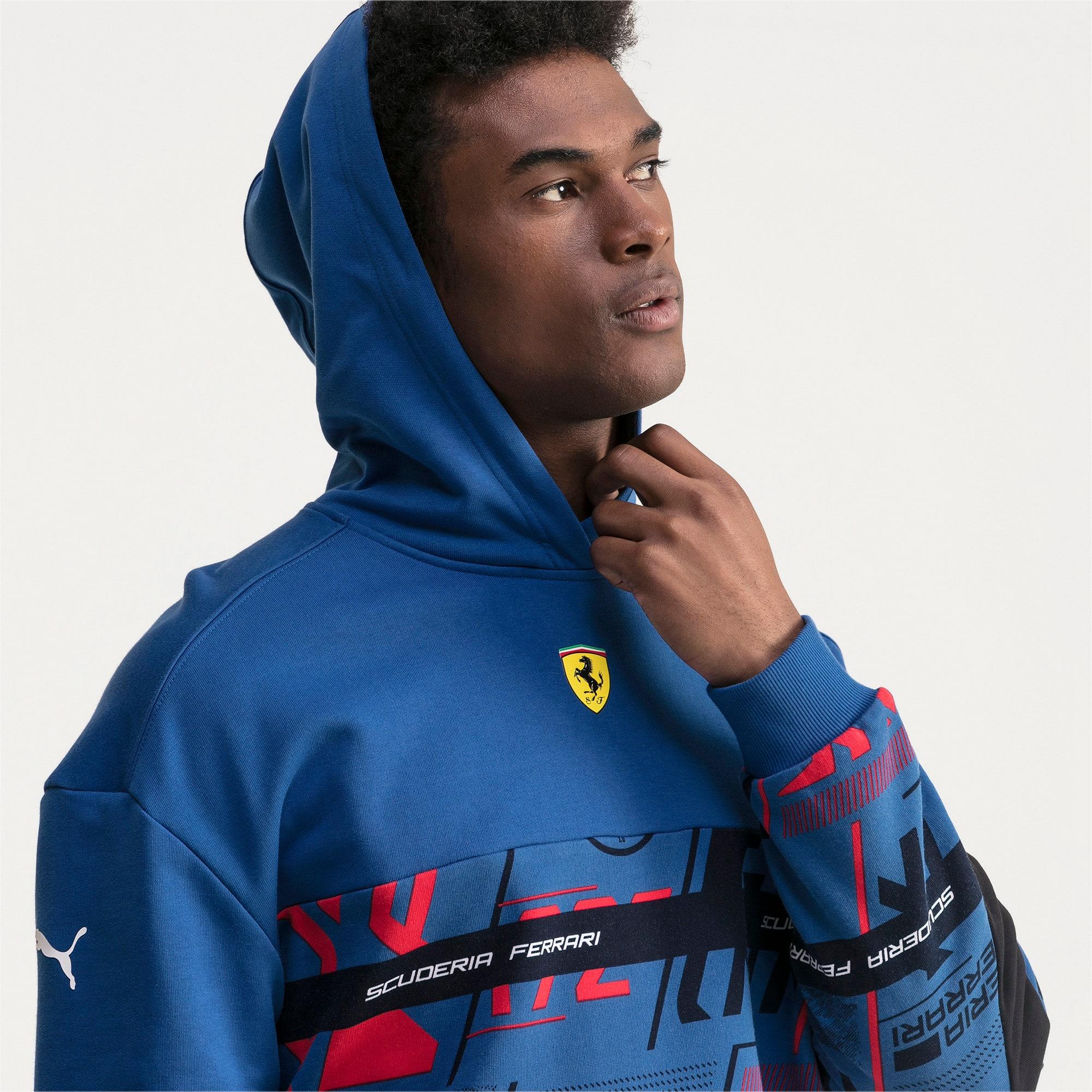 Thumbnail 3 of Ferrari Street Men's Hoodie, Galaxy Blue, medium