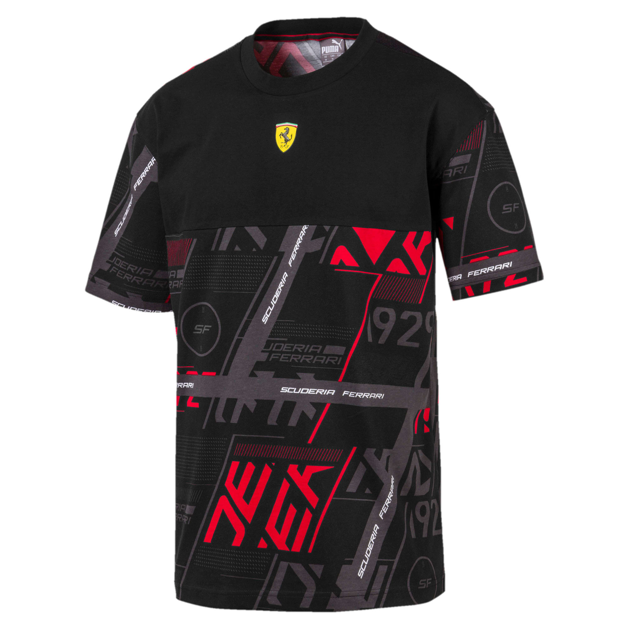 Thumbnail 5 of T-shirt Ferrari Street uomo, Puma Black, medium