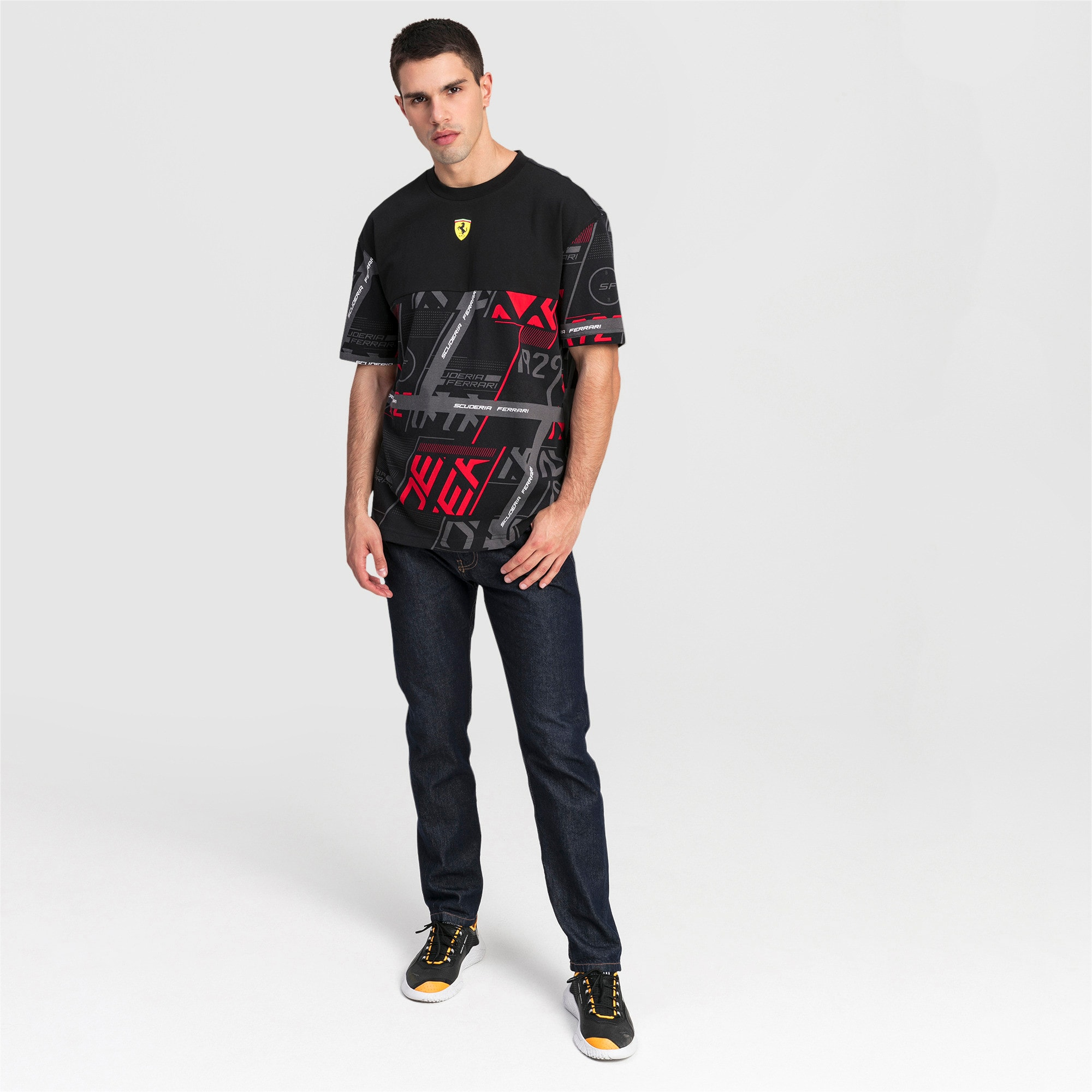 Thumbnail 3 of T-shirt Ferrari Street uomo, Puma Black, medium