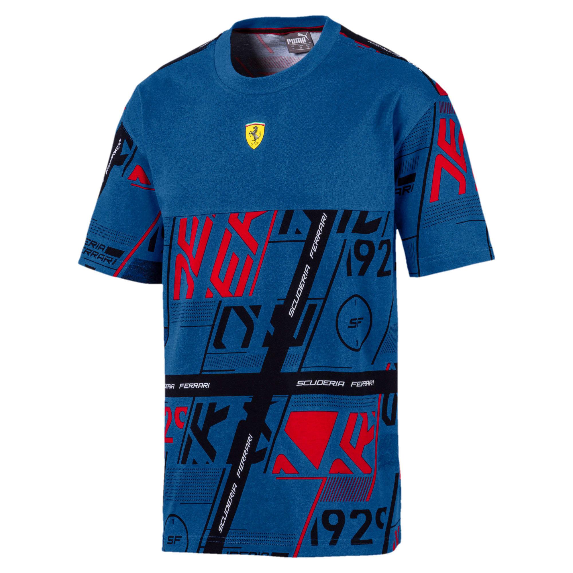 Thumbnail 3 of Ferrari T-shirt voor heren, Galaxy Blue, medium