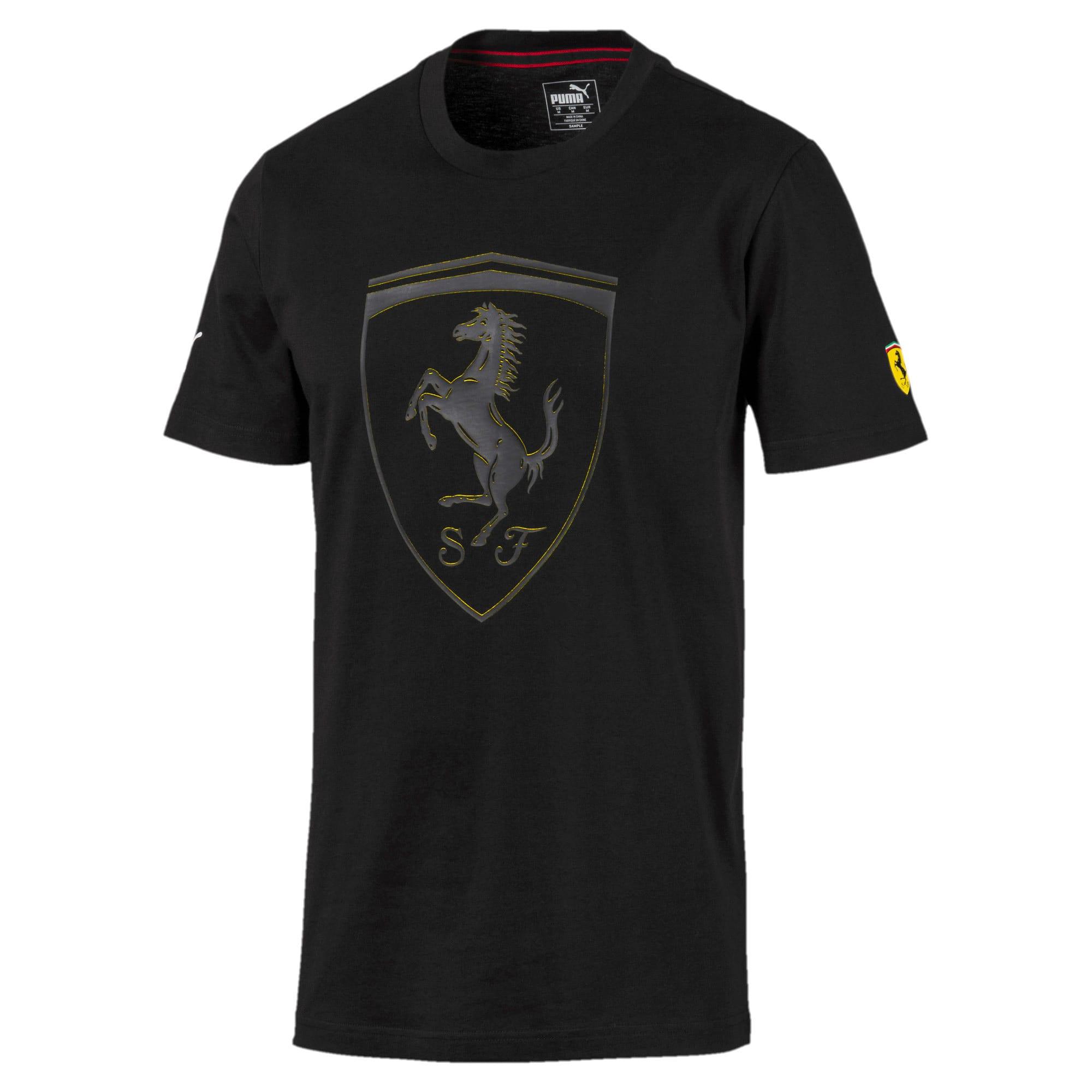 Thumbnail 4 of T-shirt Ferrari Big Shield uomo, Puma Black, medium