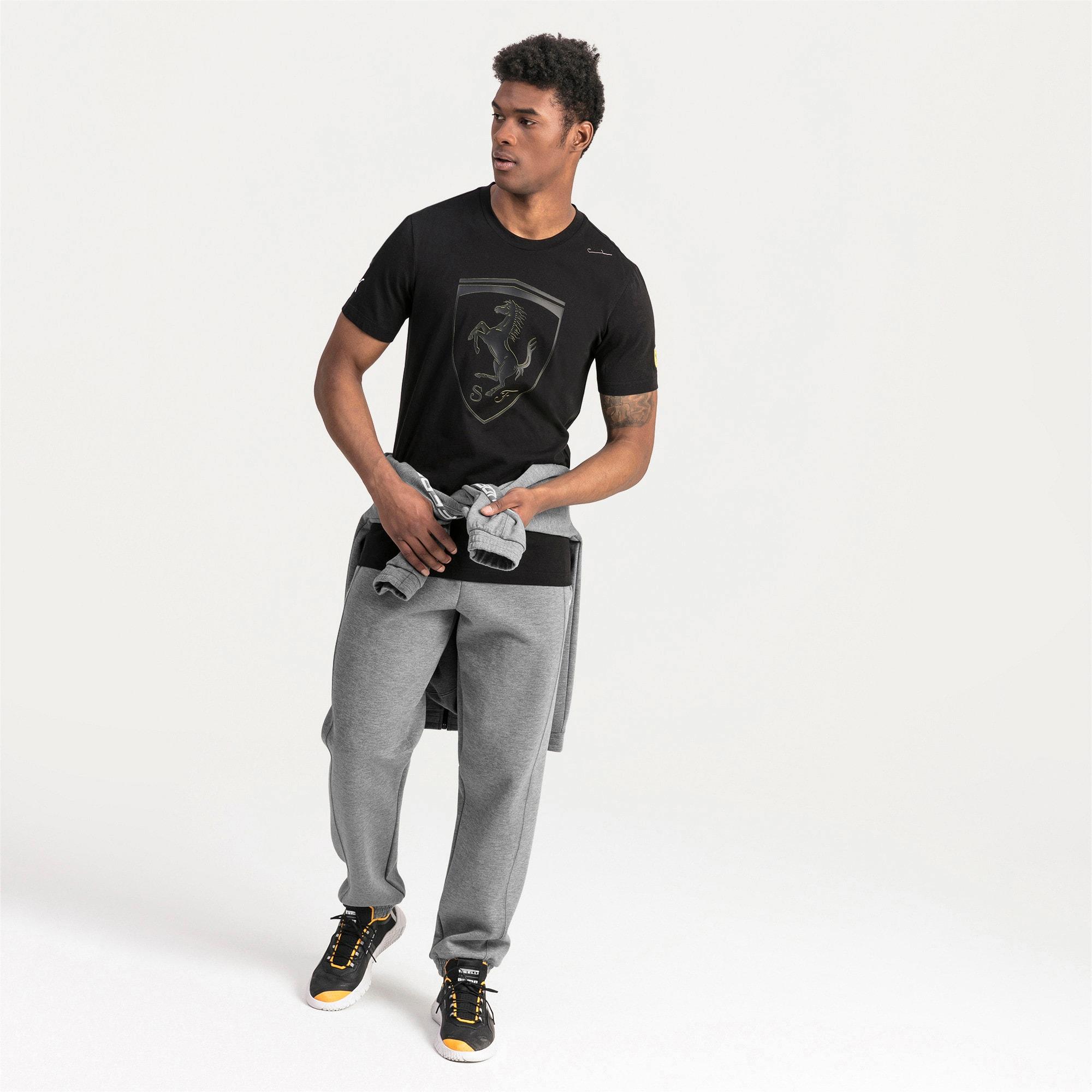 Thumbnail 3 of T-shirt Ferrari Big Shield uomo, Puma Black, medium
