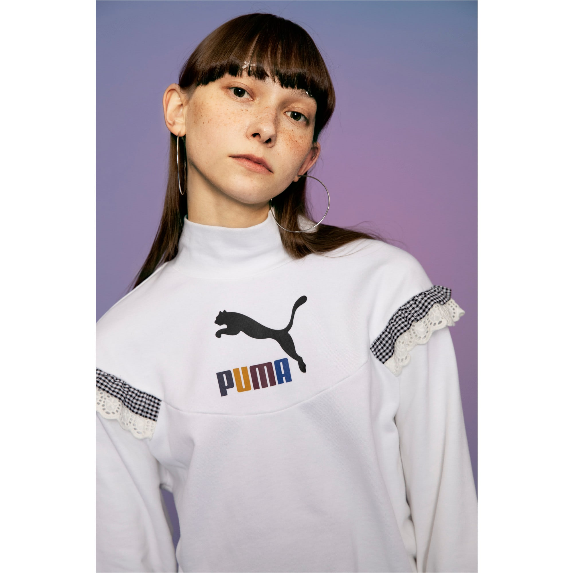 Thumbnail 8 of PUMA x TYAKASHA Women's Turtleneck Sweater, Puma White, medium