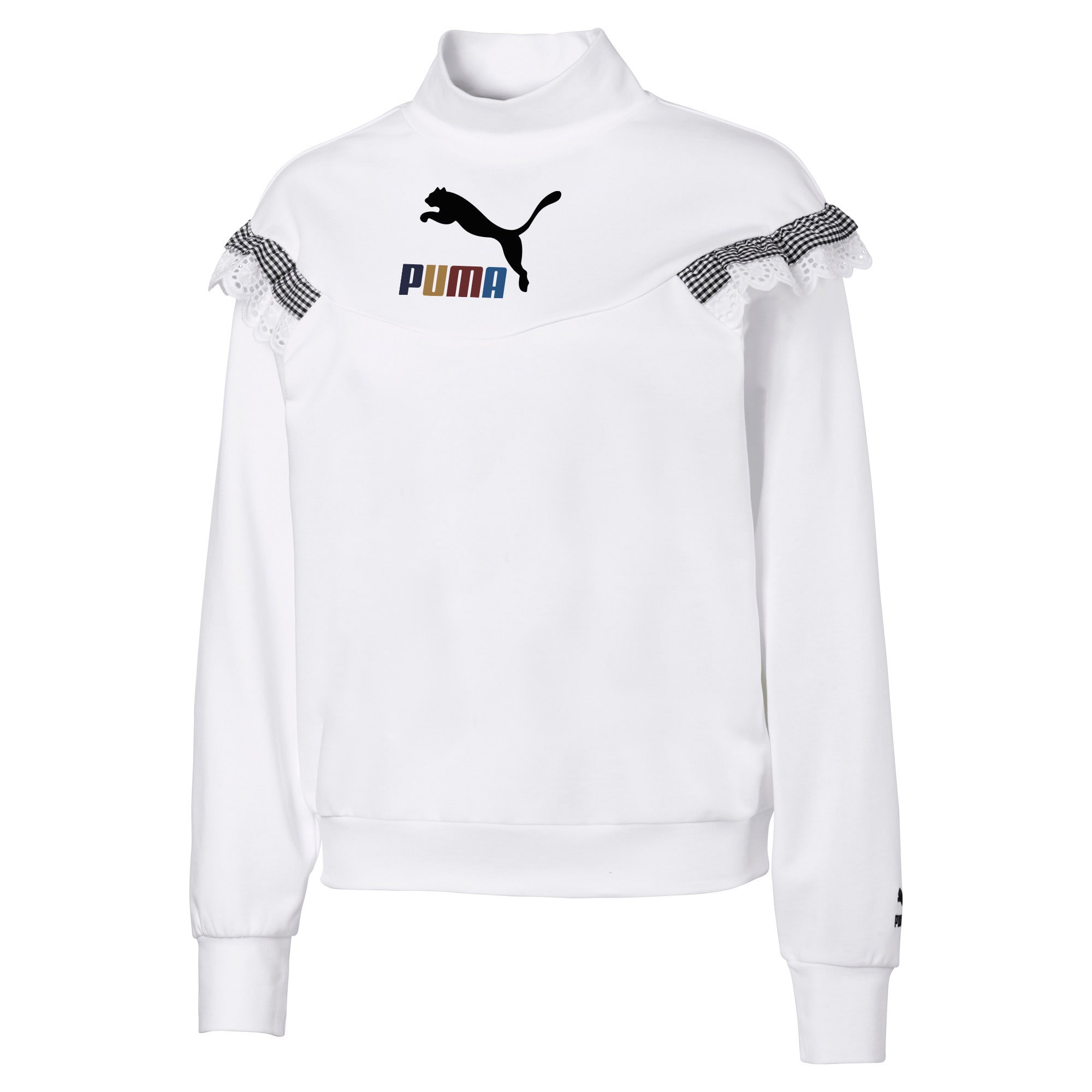 Thumbnail 1 of PUMA x TYAKASHA Women's Turtleneck Sweater, Puma White, medium