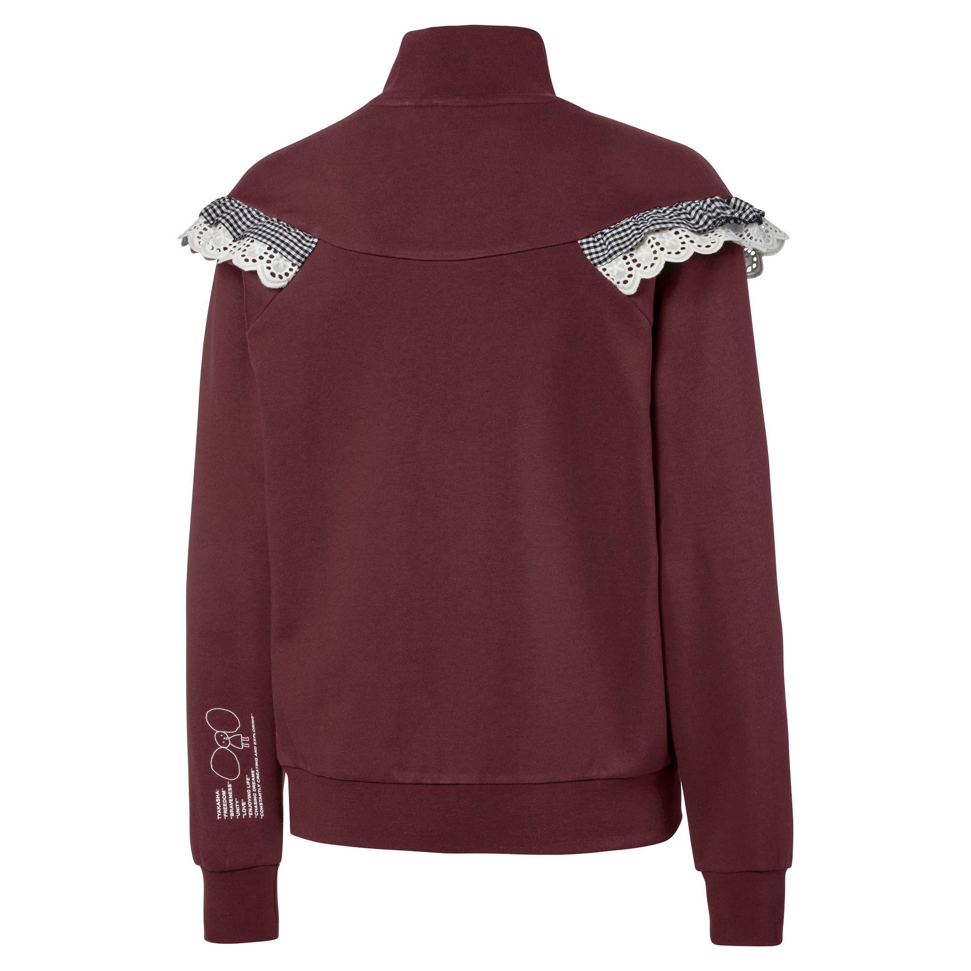 Thumbnail 2 of PUMA x TYAKASHA Women's Turtleneck Sweater, Vineyard Wine, medium