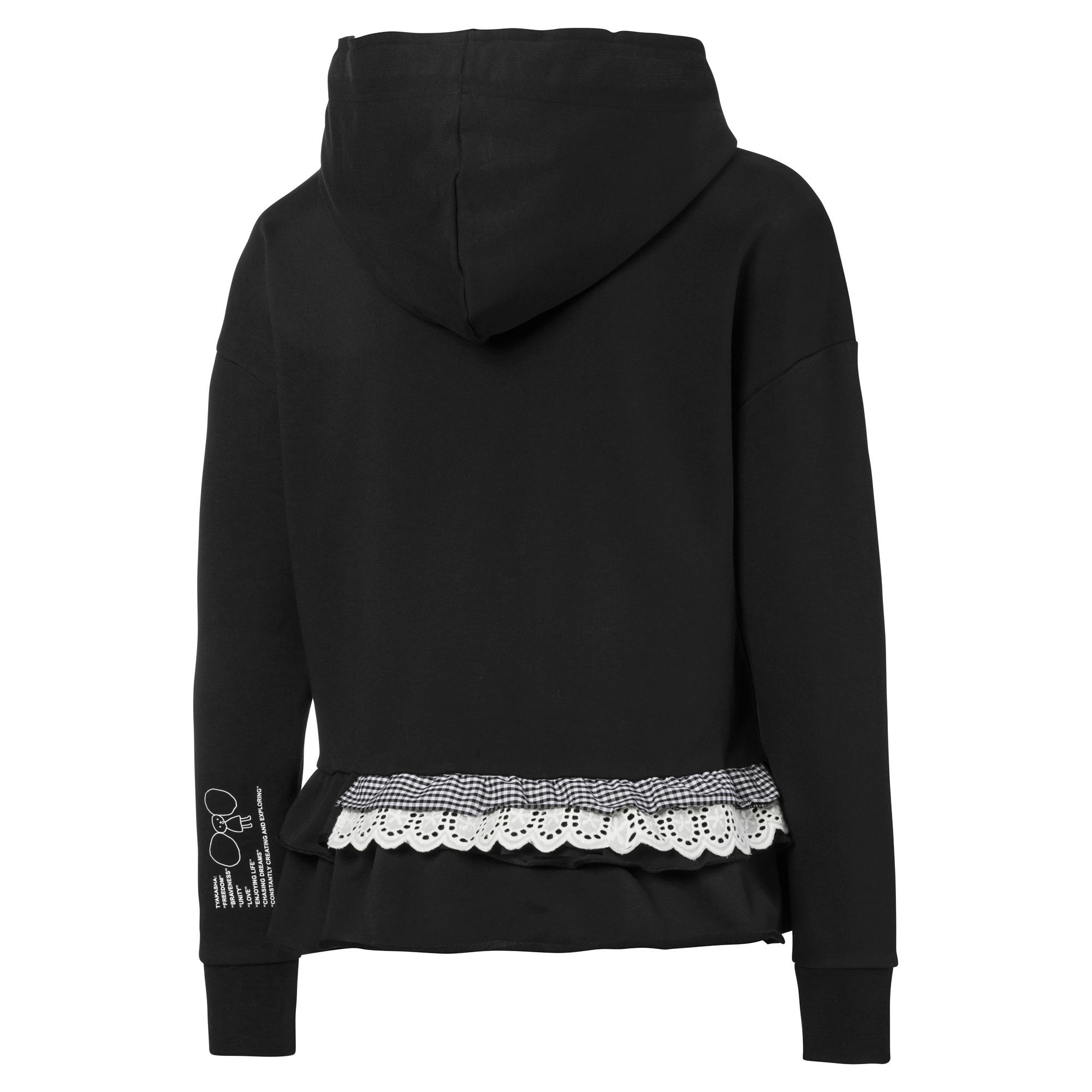 Thumbnail 5 of PUMA x TYAKASHA Women's Hoodie, Cotton Black, medium
