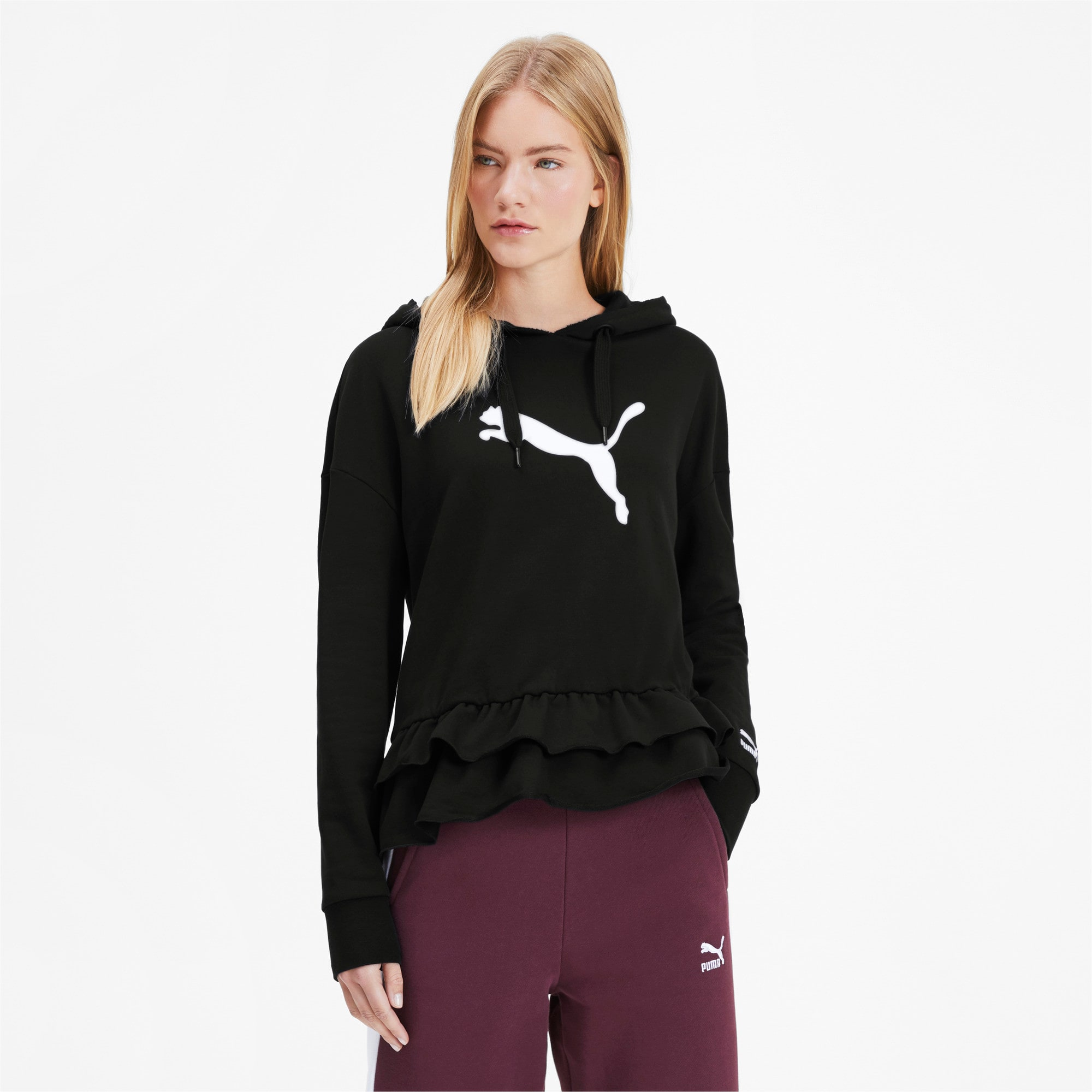 Thumbnail 2 of PUMA x TYAKASHA Women's Hoodie, Cotton Black, medium