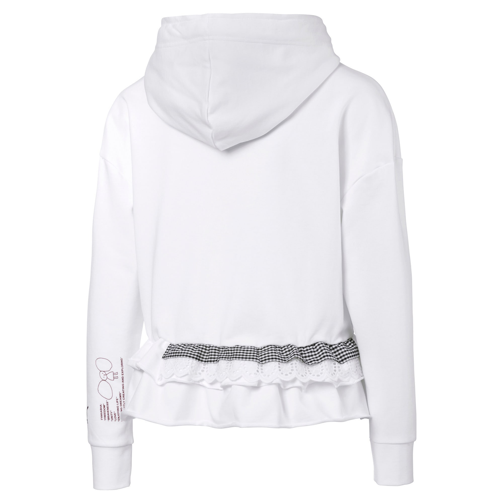 Thumbnail 5 of PUMA x TYAKASHA Women's Hoodie, Puma White, medium