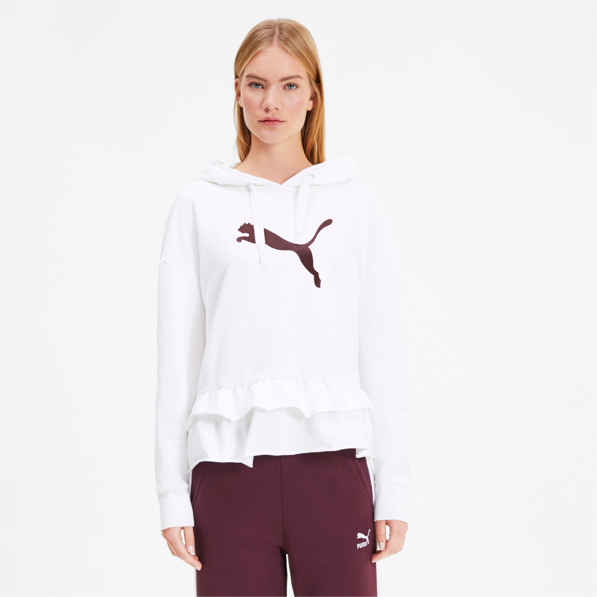 Thumbnail 2 of PUMA x TYAKASHA Women's Hoodie, Puma White, medium