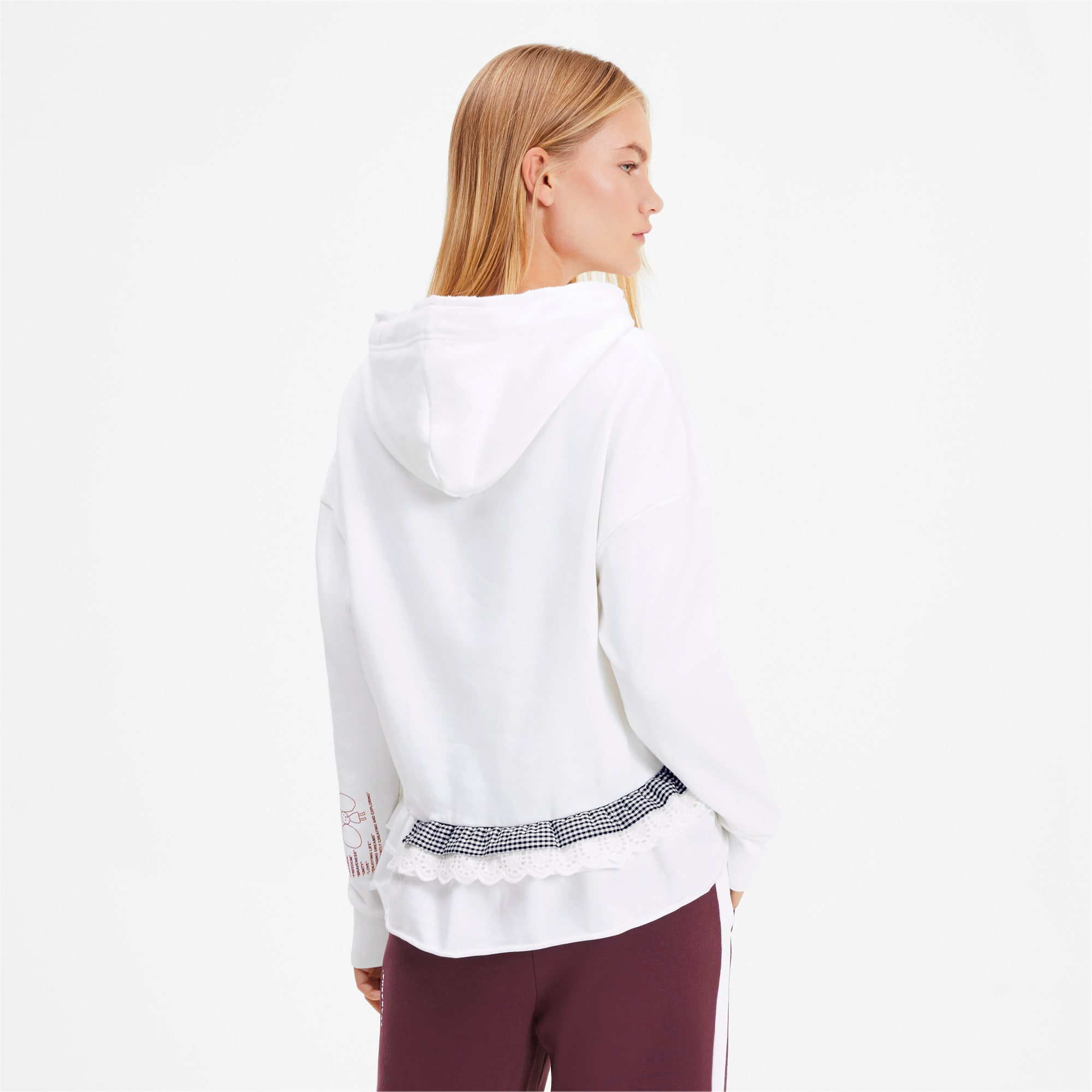 Thumbnail 3 of PUMA x TYAKASHA Women's Hoodie, Puma White, medium