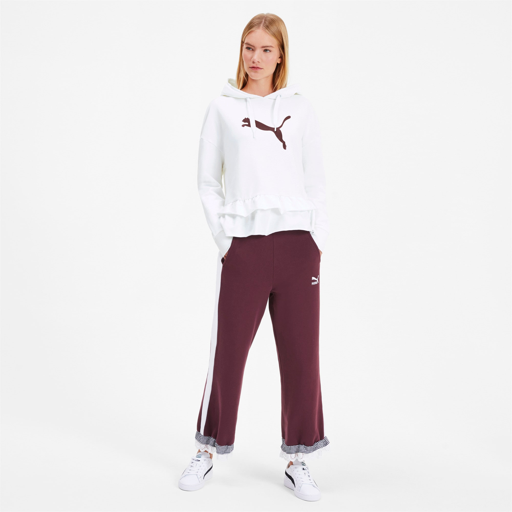 Thumbnail 4 of PUMA x TYAKASHA Women's Hoodie, Puma White, medium