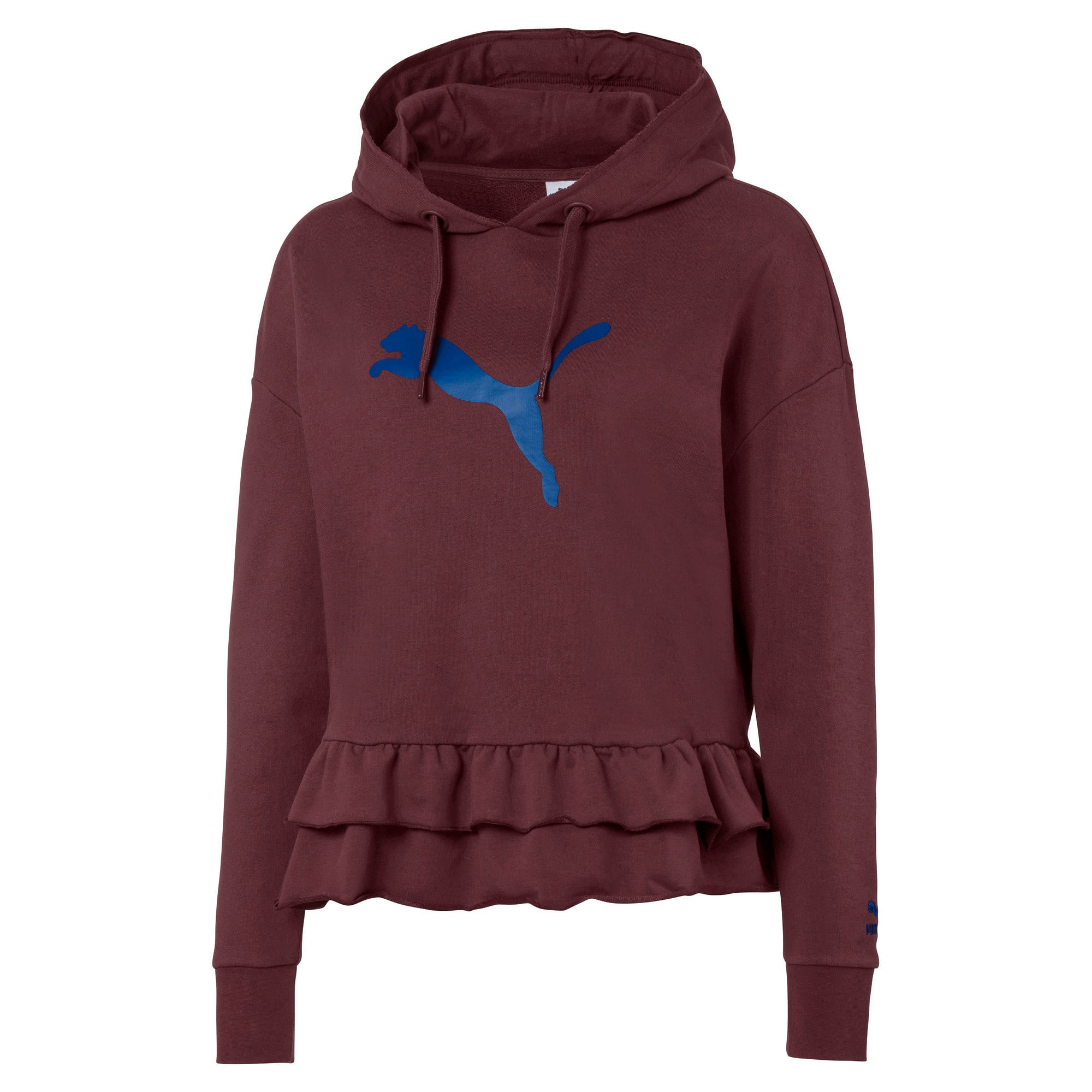 Thumbnail 1 of PUMA x TYAKASHA Women's Hoodie, Vineyard Wine, medium