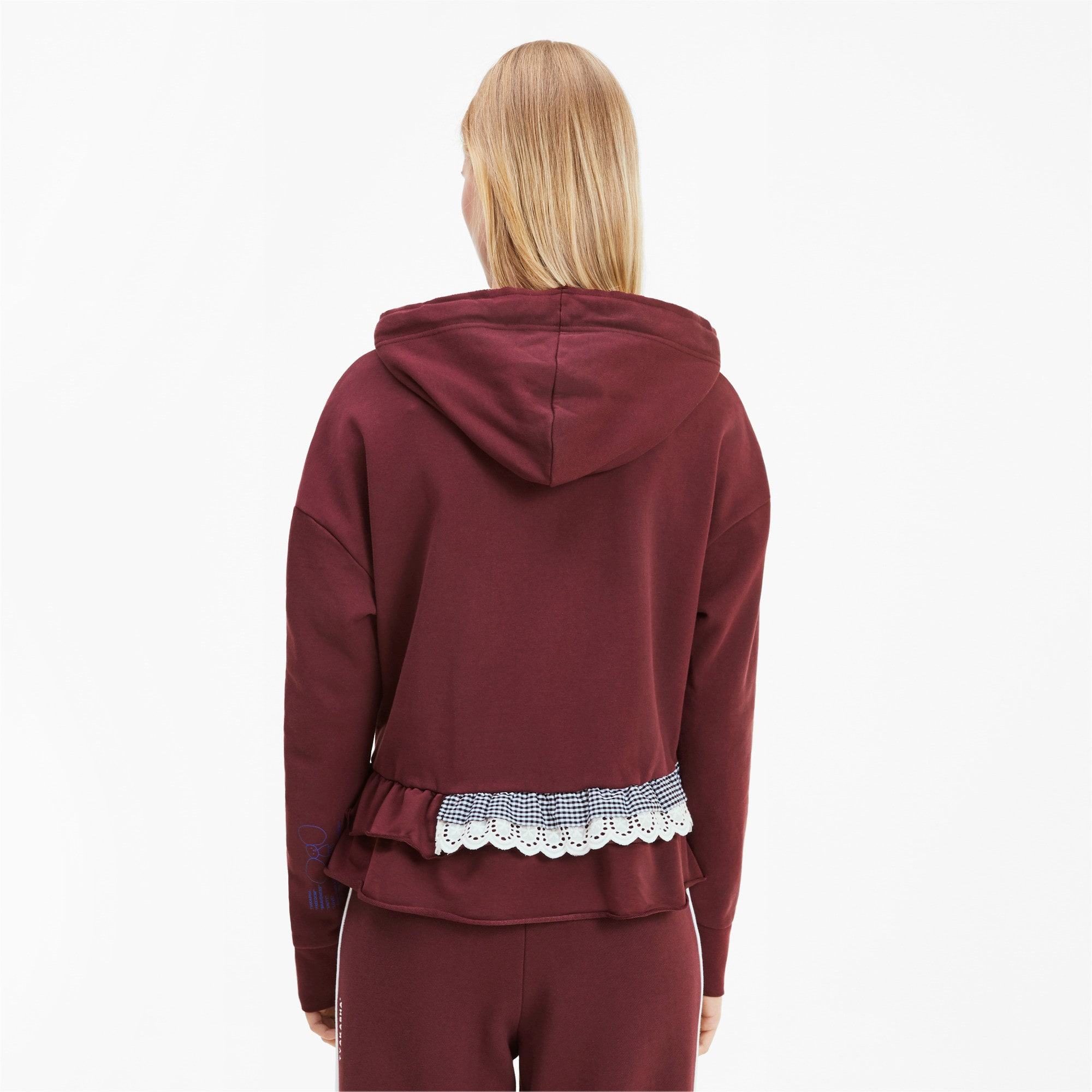 Thumbnail 3 of PUMA x TYAKASHA Damen Hoodie, Vineyard Wine, medium