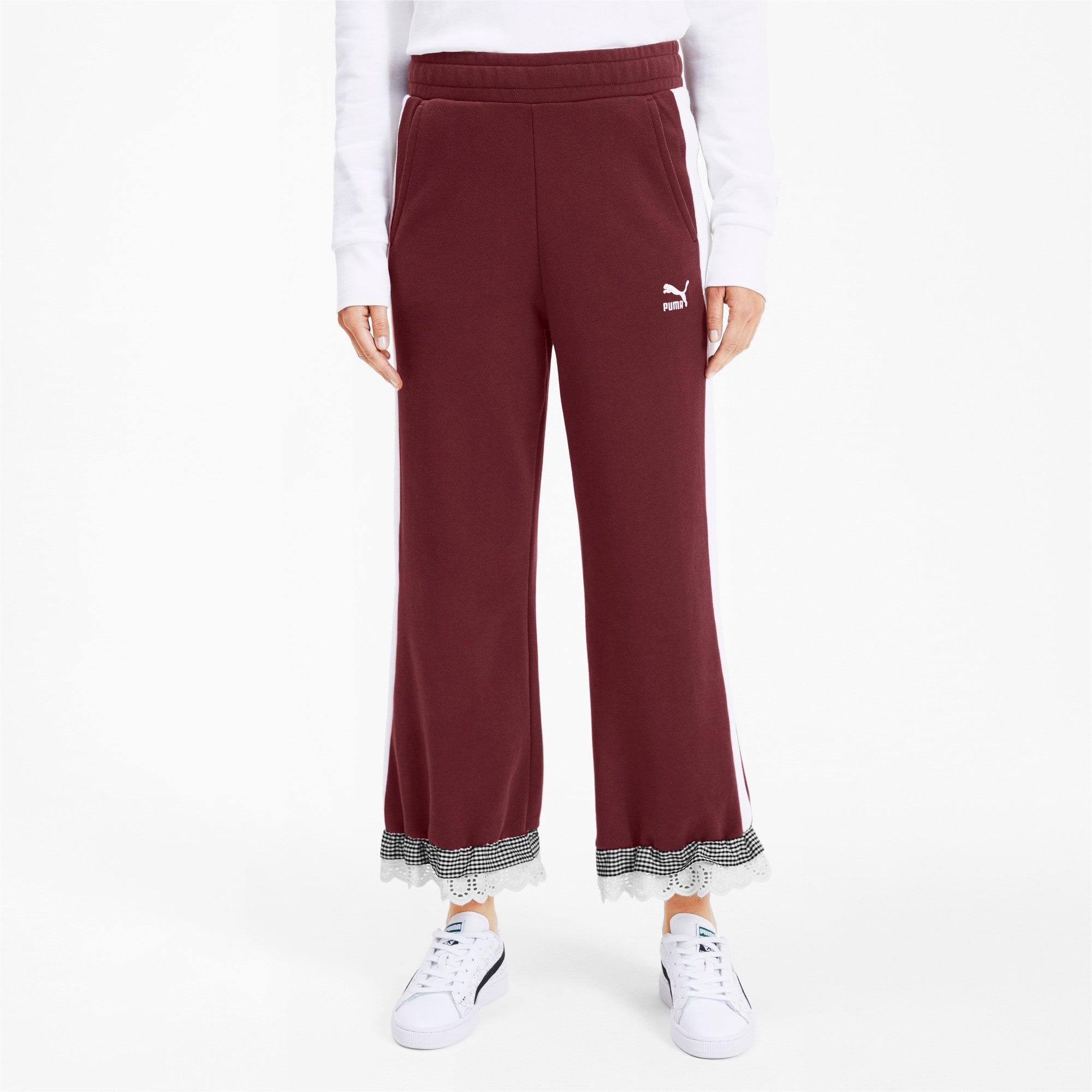 Thumbnail 2 of PUMA x TYAKASHA Knitted Women's Culottes, Vineyard Wine, medium