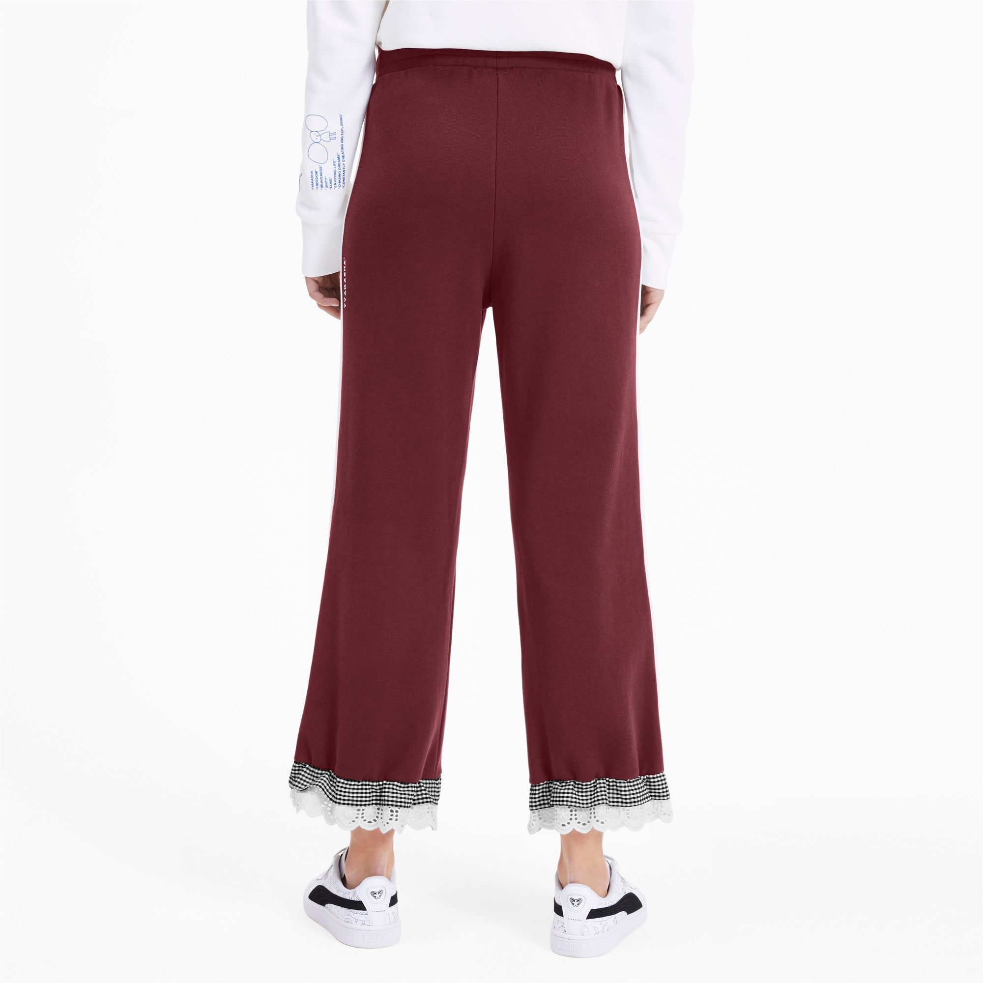 Thumbnail 3 of PUMA x TYAKASHA Knitted Women's Culottes, Vineyard Wine, medium