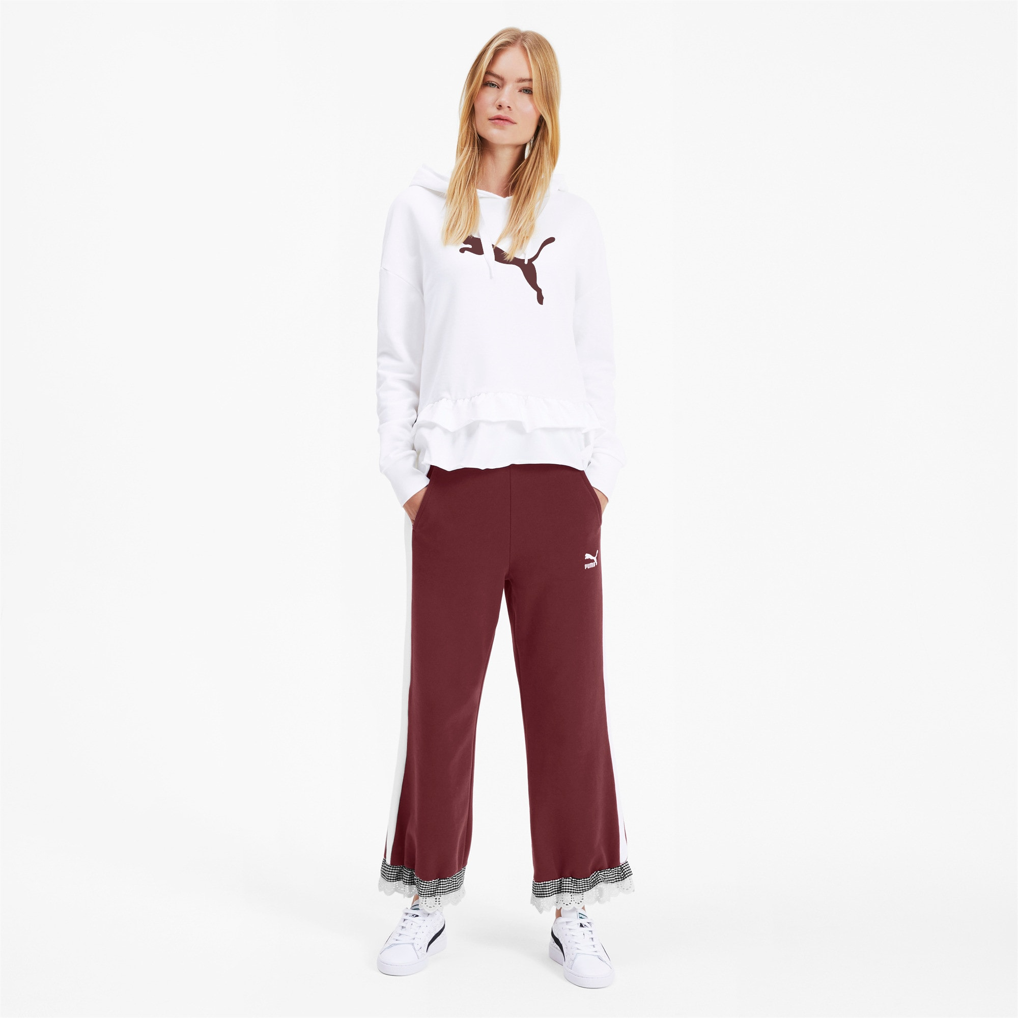 Thumbnail 4 of PUMA x TYAKASHA Knitted Women's Culottes, Vineyard Wine, medium