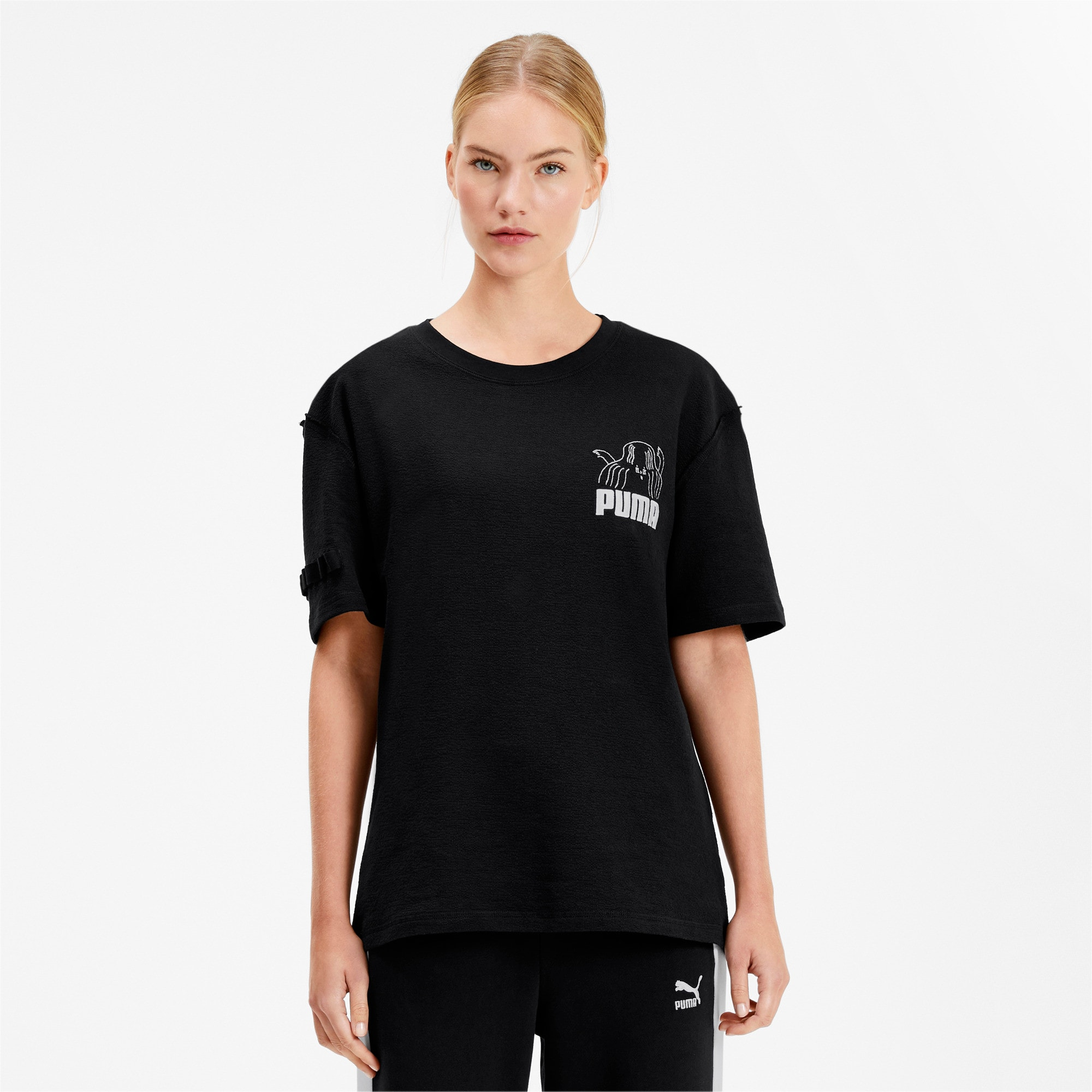 Thumbnail 2 of PUMA x TYAKASHA Tee, Cotton Black, medium