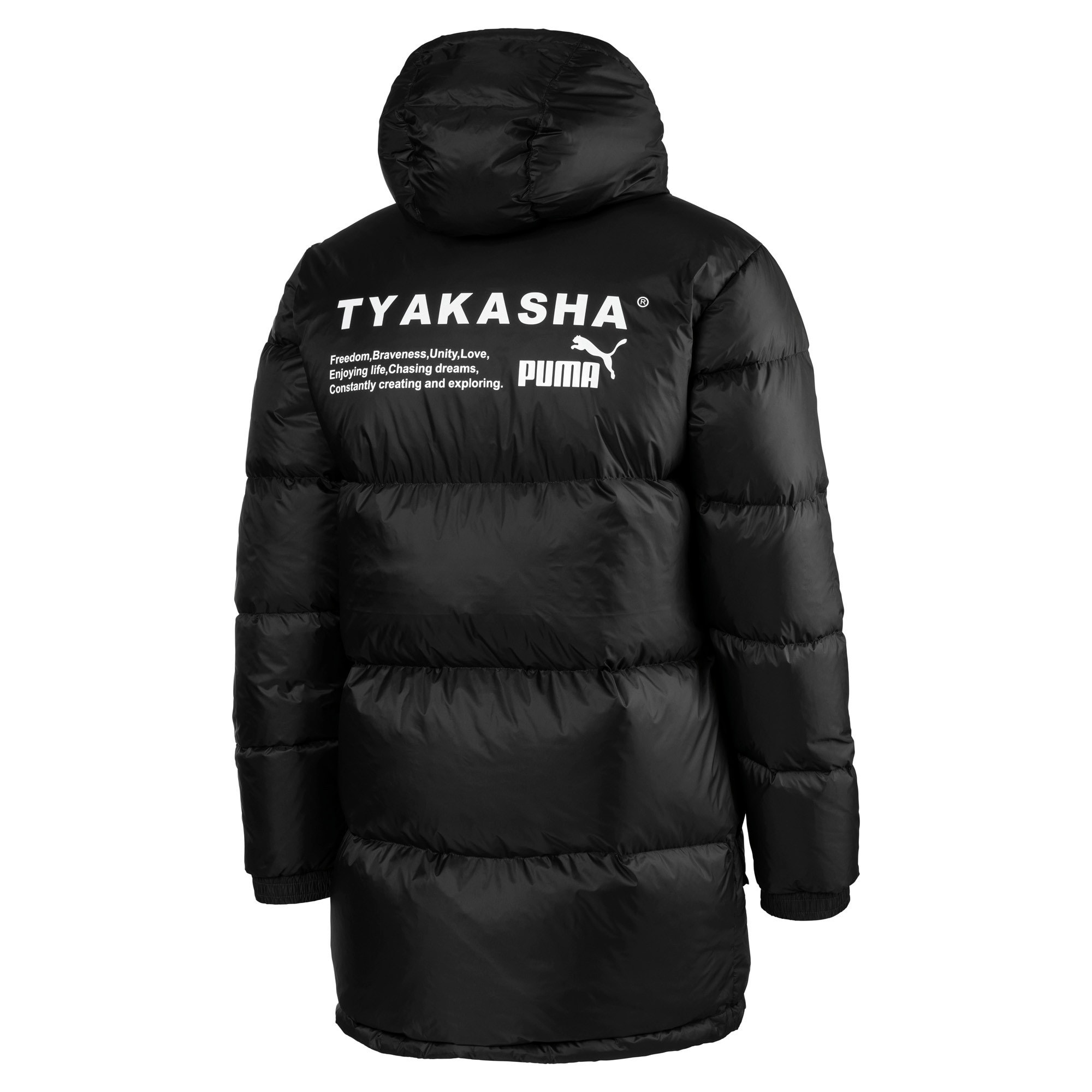 Thumbnail 5 of PUMA x TYAKASHA Woven Down Parka, Puma Black, medium