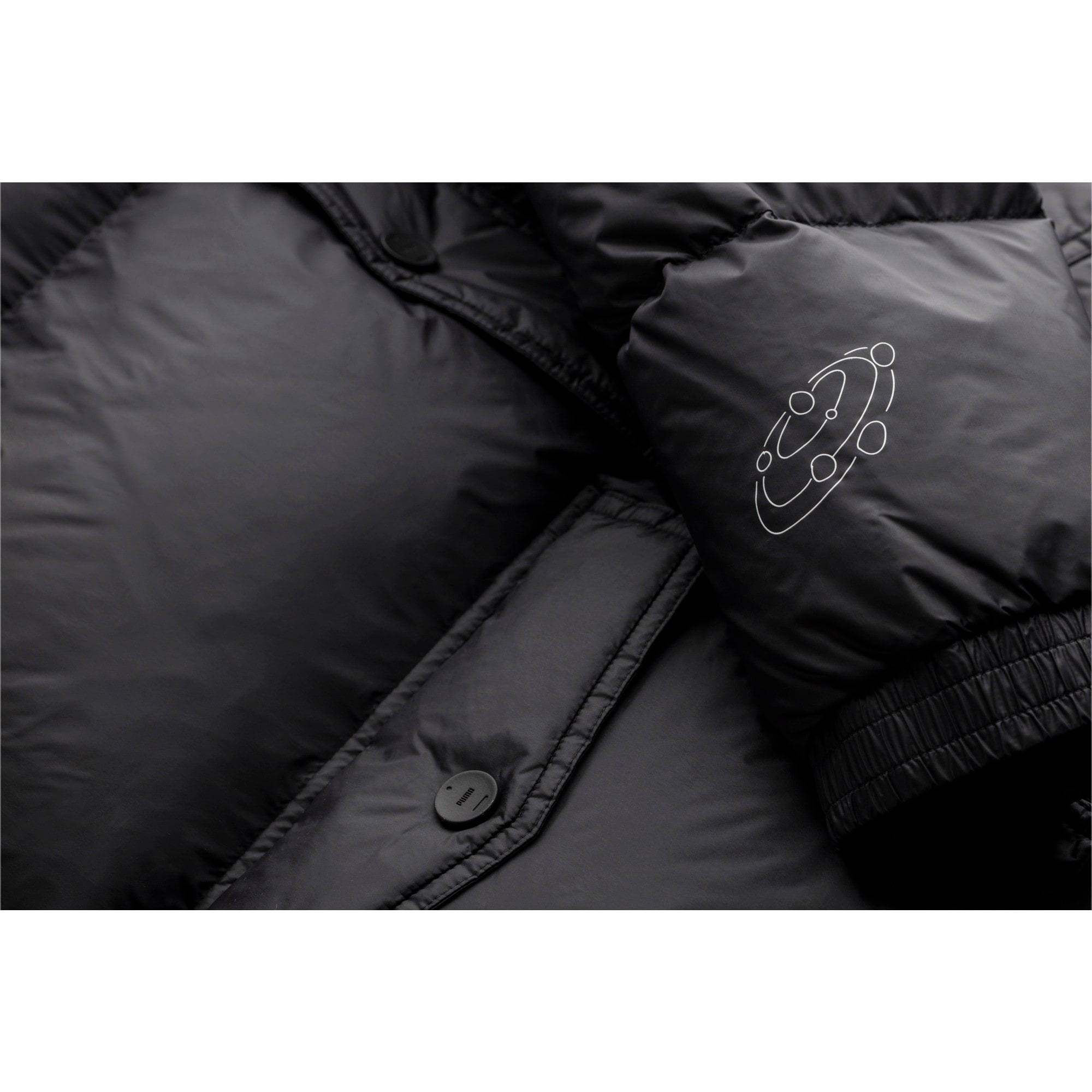 Thumbnail 7 of PUMA x TYAKASHA Woven Down Parka, Puma Black, medium