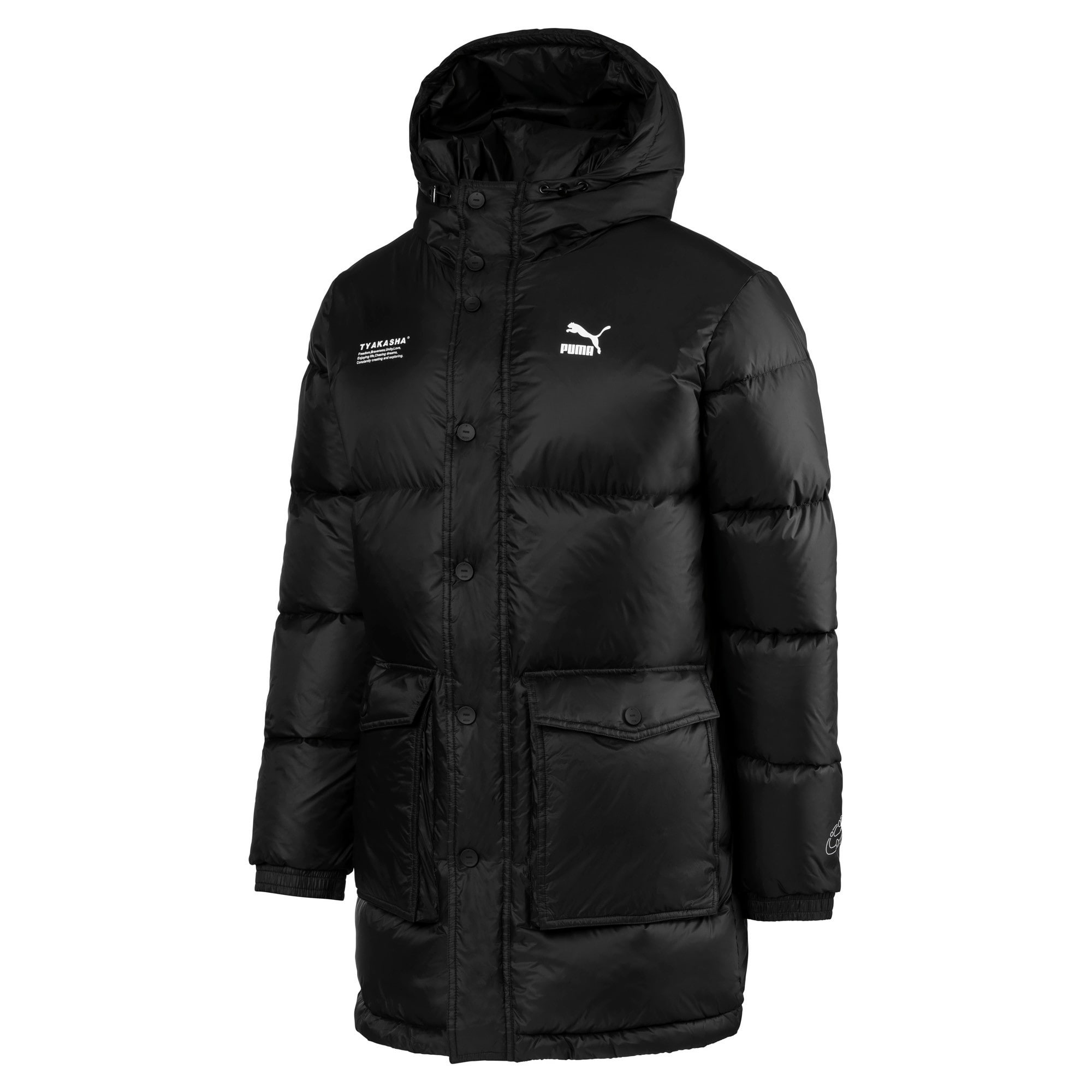 Thumbnail 1 of PUMA x TYAKASHA Woven Down Parka, Puma Black, medium
