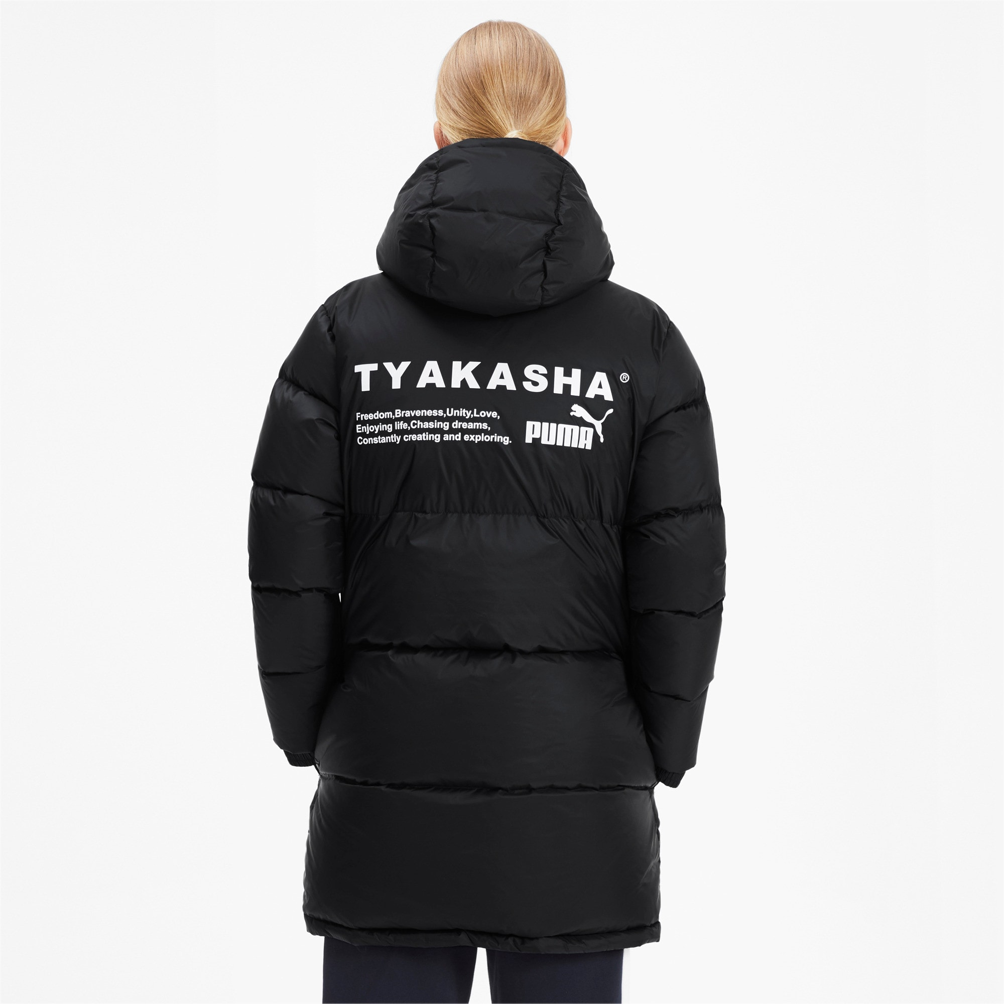 Thumbnail 3 of PUMA x TYAKASHA Woven Down Parka, Puma Black, medium