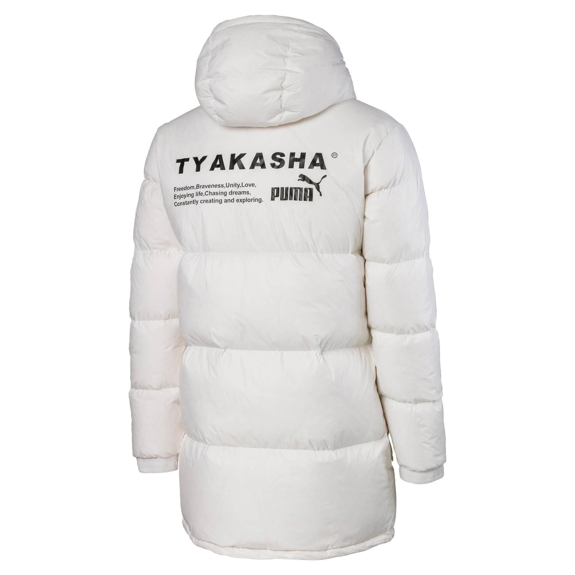 Thumbnail 5 of PUMA x TYAKASHA Woven Down Parka, Puma White, medium