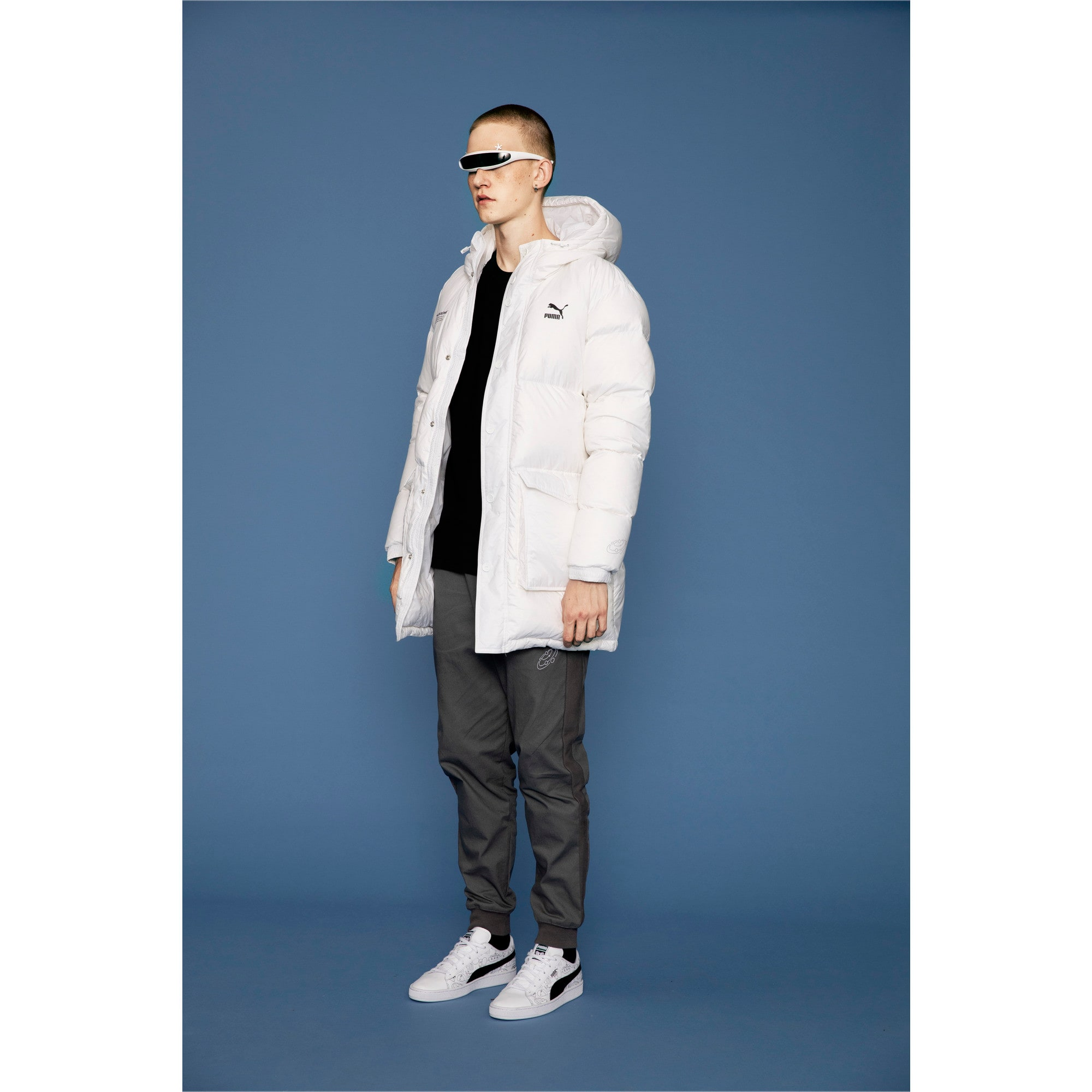 Thumbnail 6 of PUMA x TYAKASHA Woven Down Parka, Puma White, medium