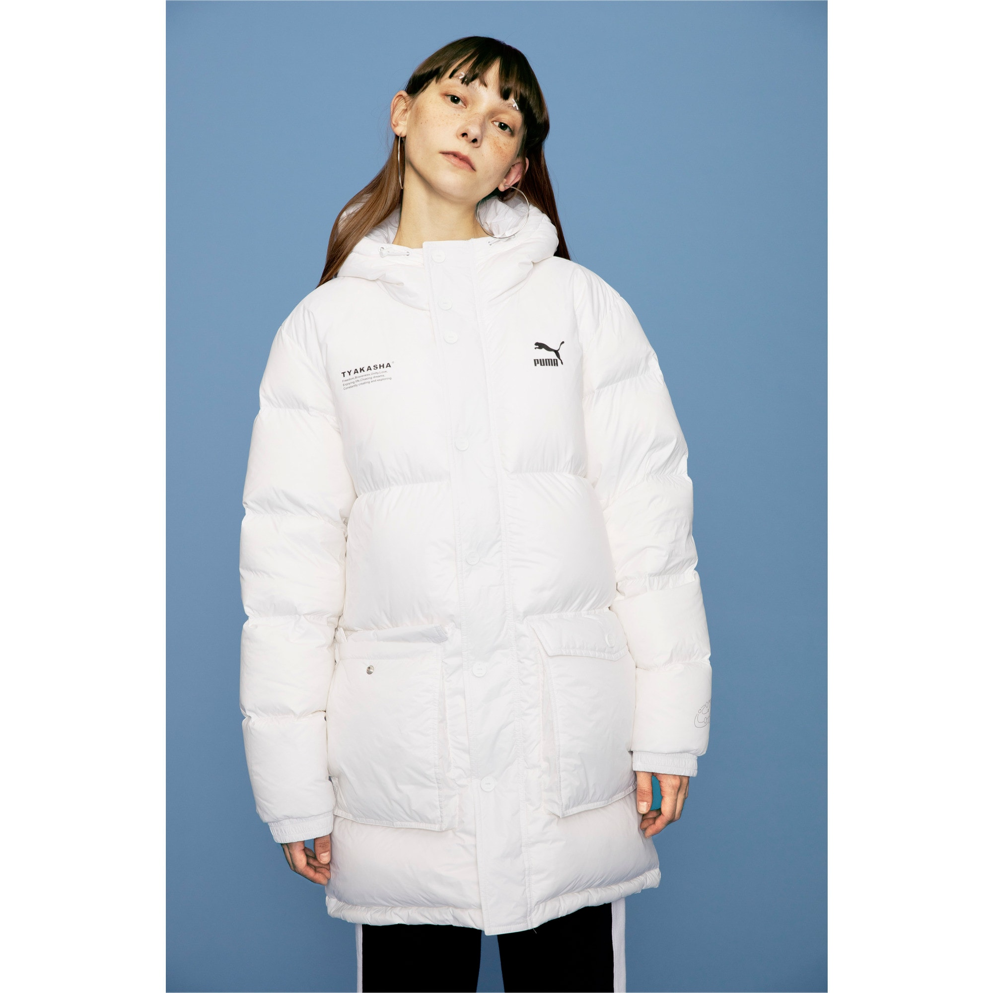 Thumbnail 7 of PUMA x TYAKASHA Woven Down Parka, Puma White, medium