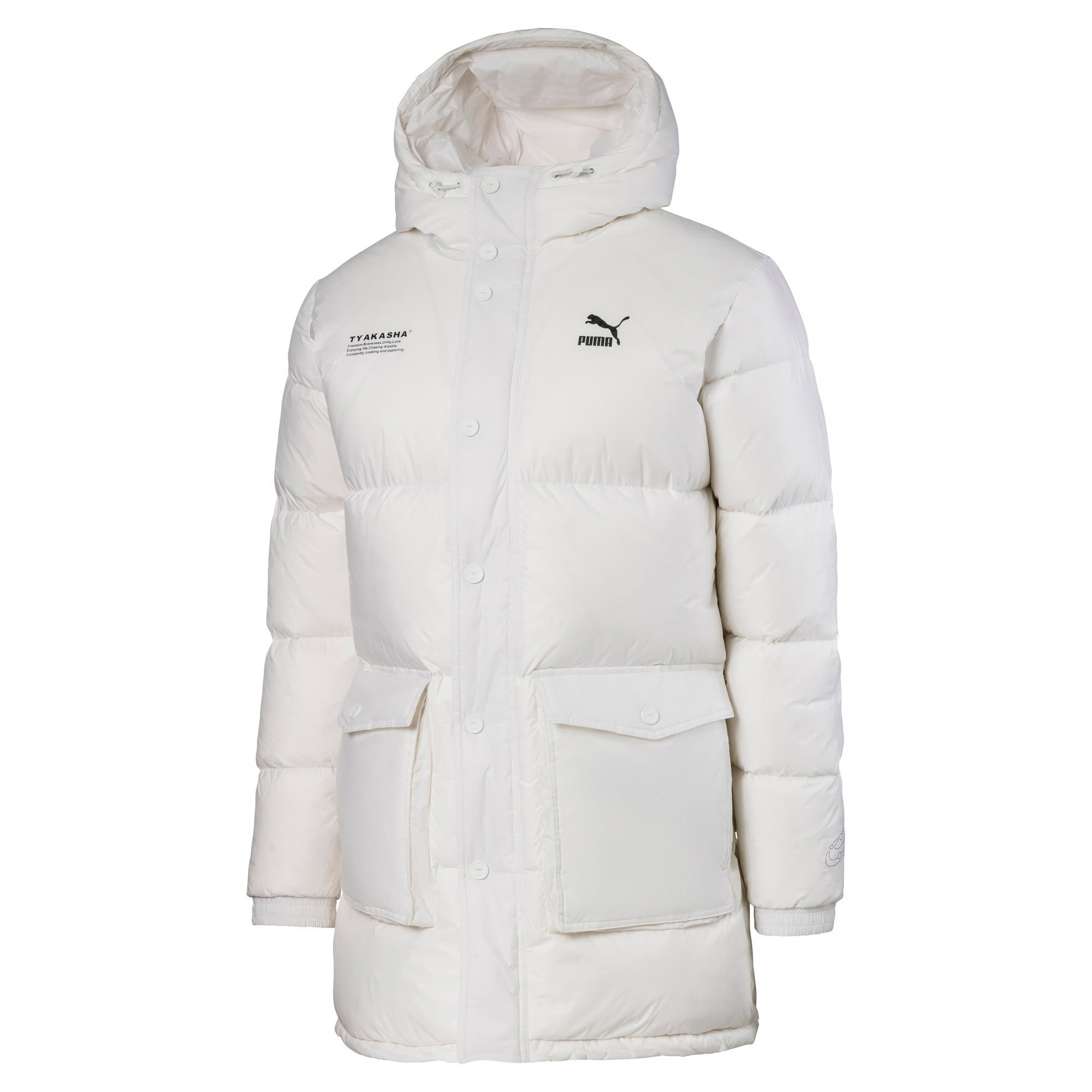 Thumbnail 1 of PUMA x TYAKASHA Woven Down Parka, Puma White, medium